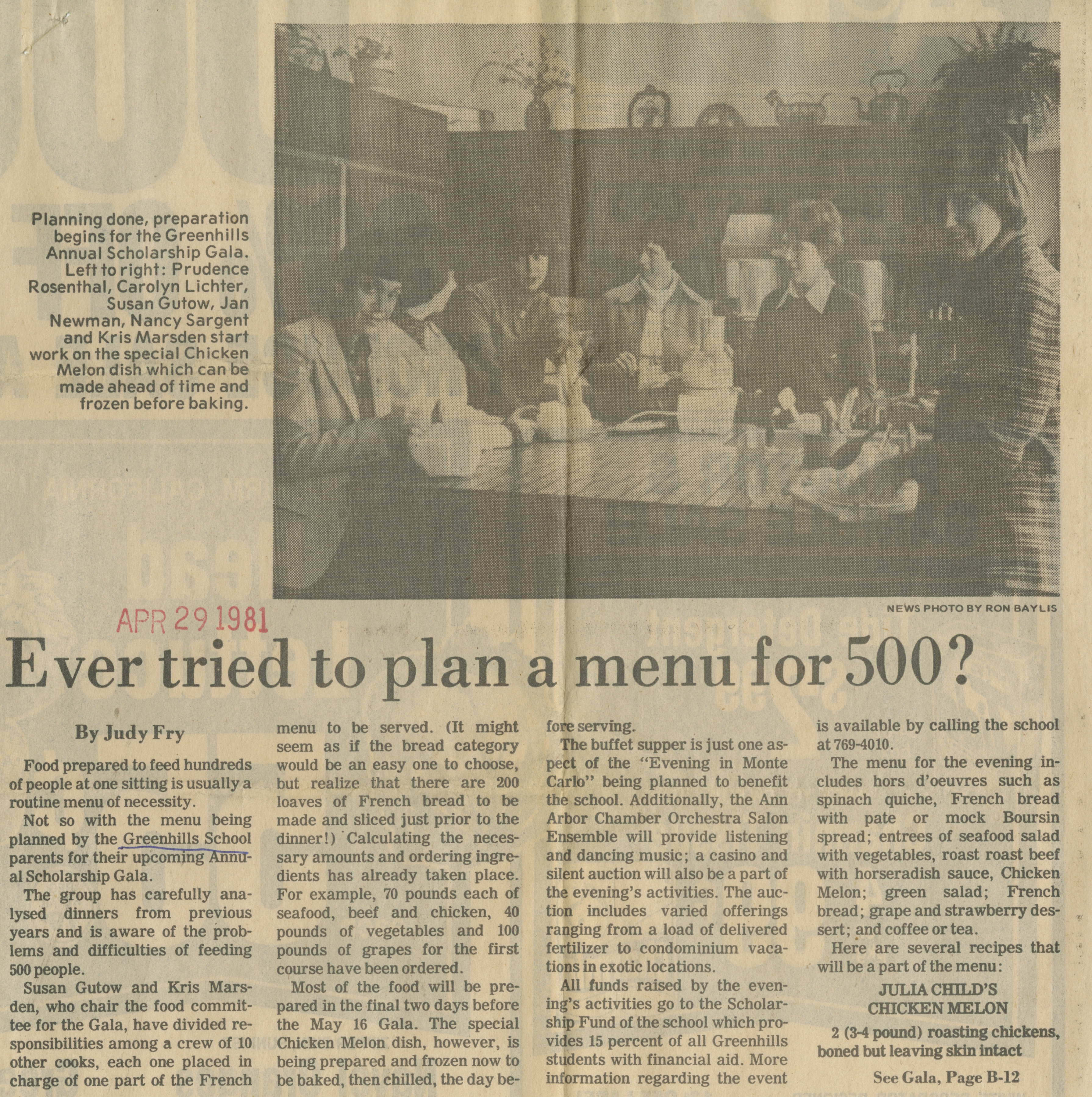 Ever Tried To Plan A Menu For 500? image