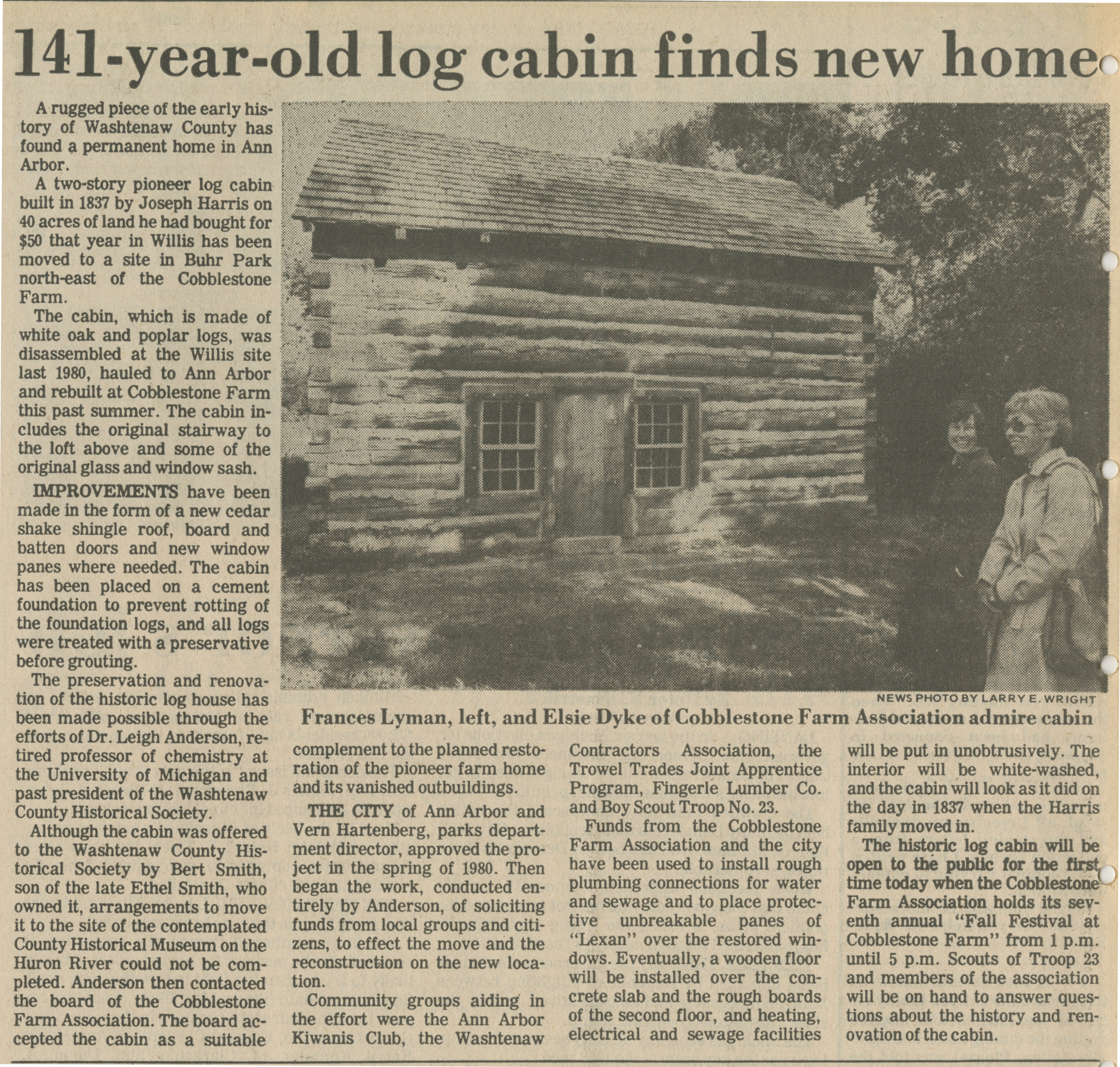 141-Year-Old Log Cabin Finds New Home image