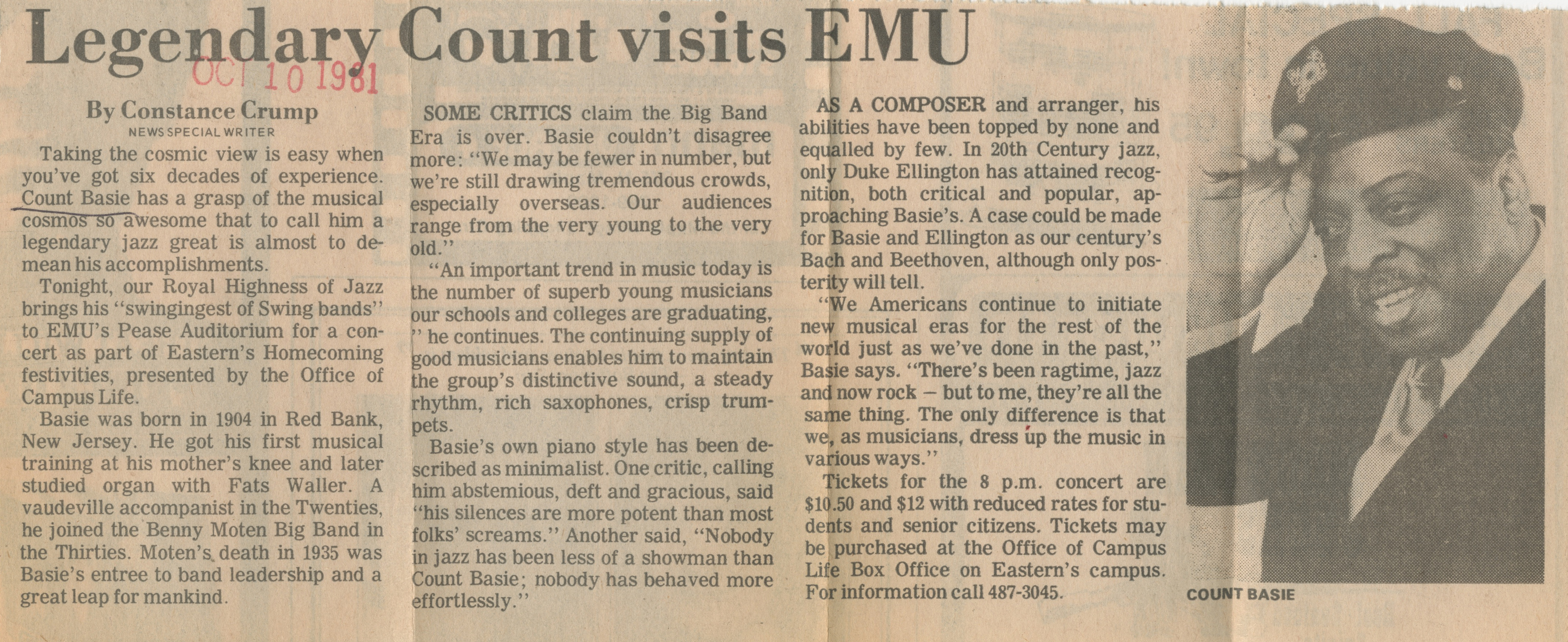 Legendary Count Visits EMU image