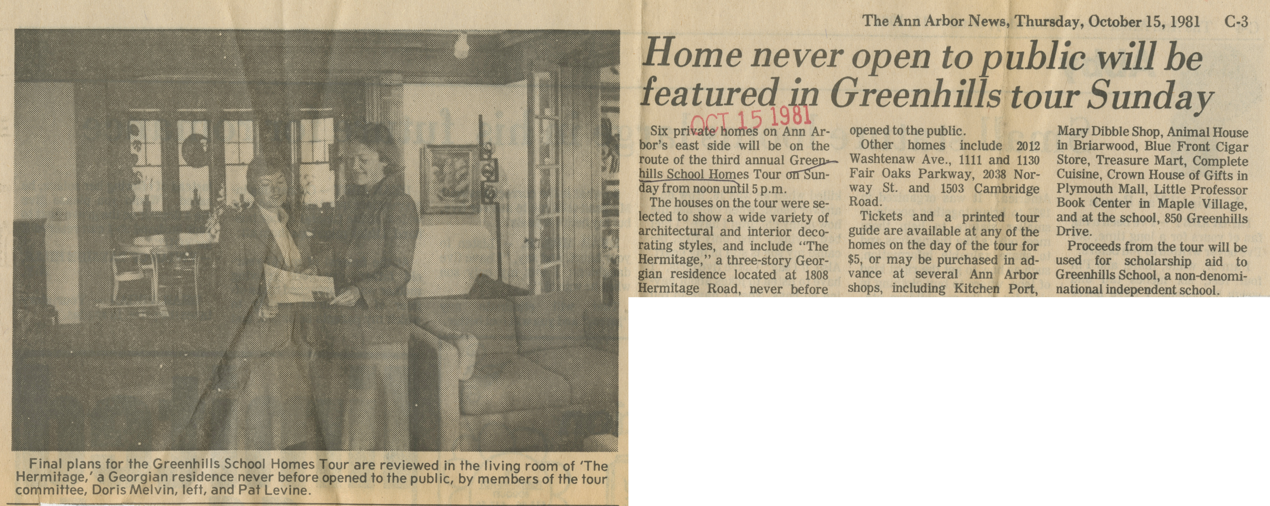 Home Never Open To Public Will Be Featured In Greenhills Tour Sunday image