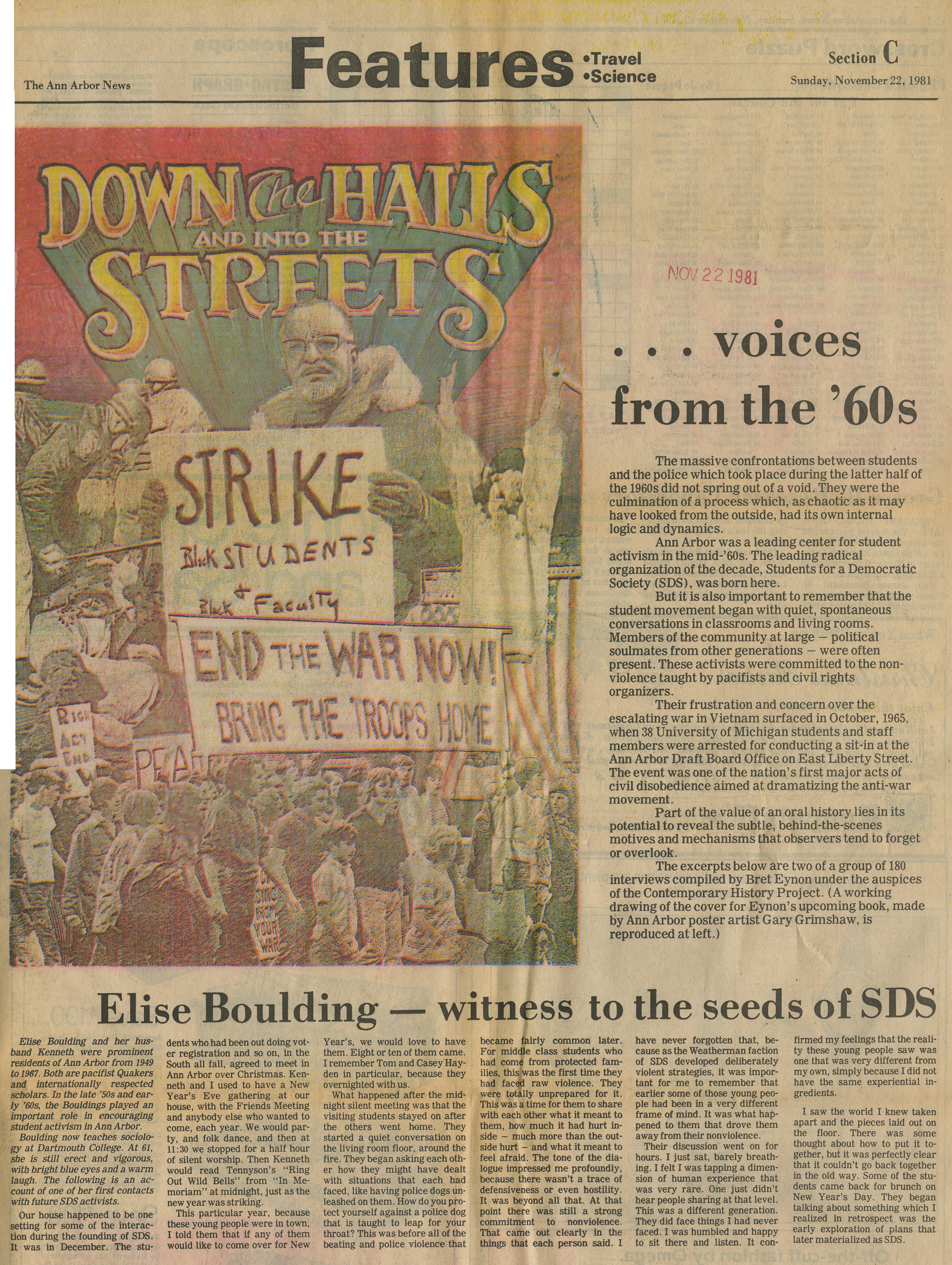 ...voices from the '60s: Elise Boulding - witness to the seeds of SDS image