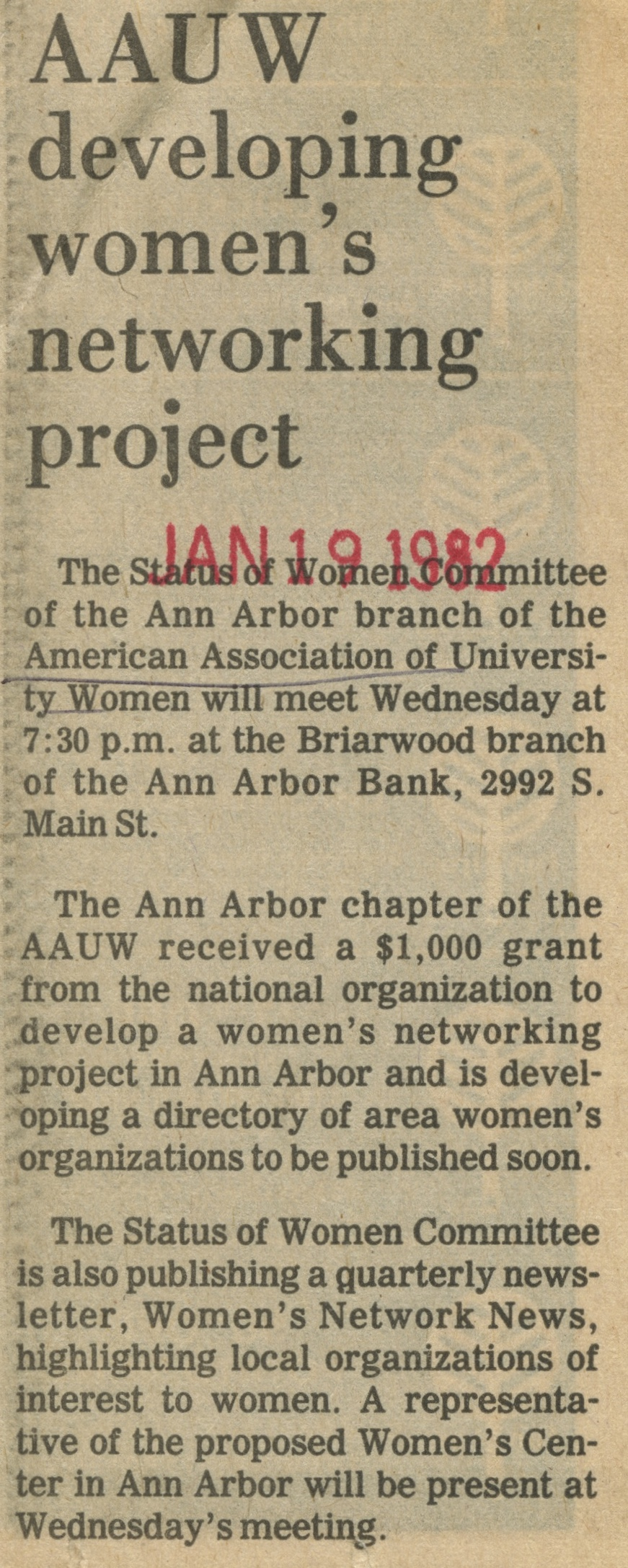 AAUW Developing Women's Networking Project image