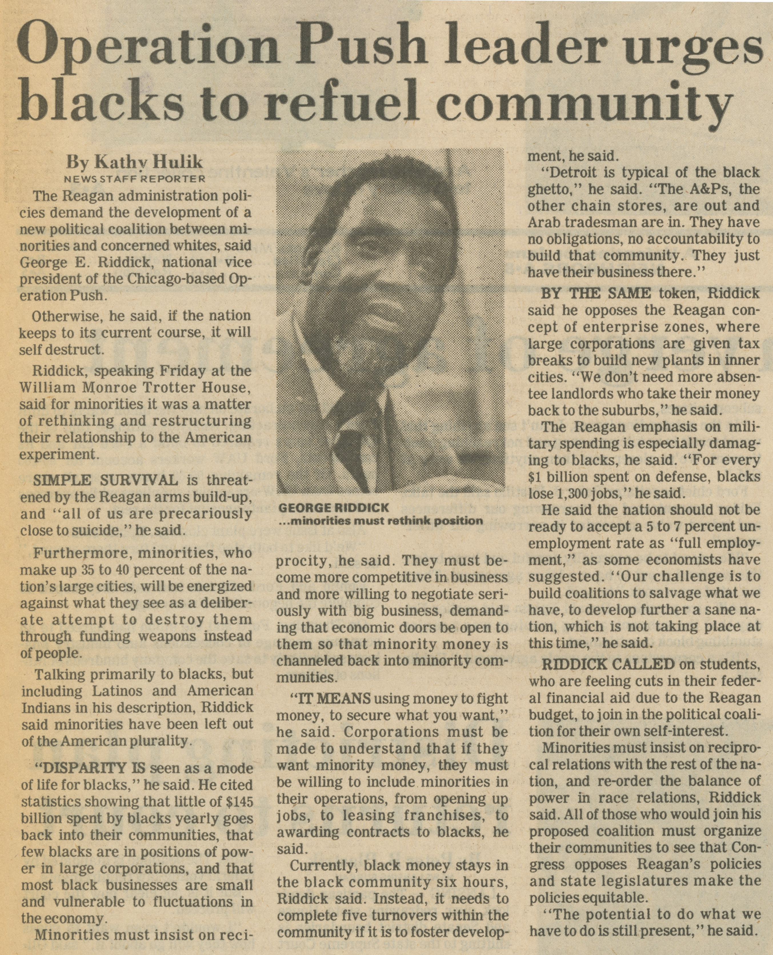 Operation Push Leader Urges Blacks To Refuel Community image