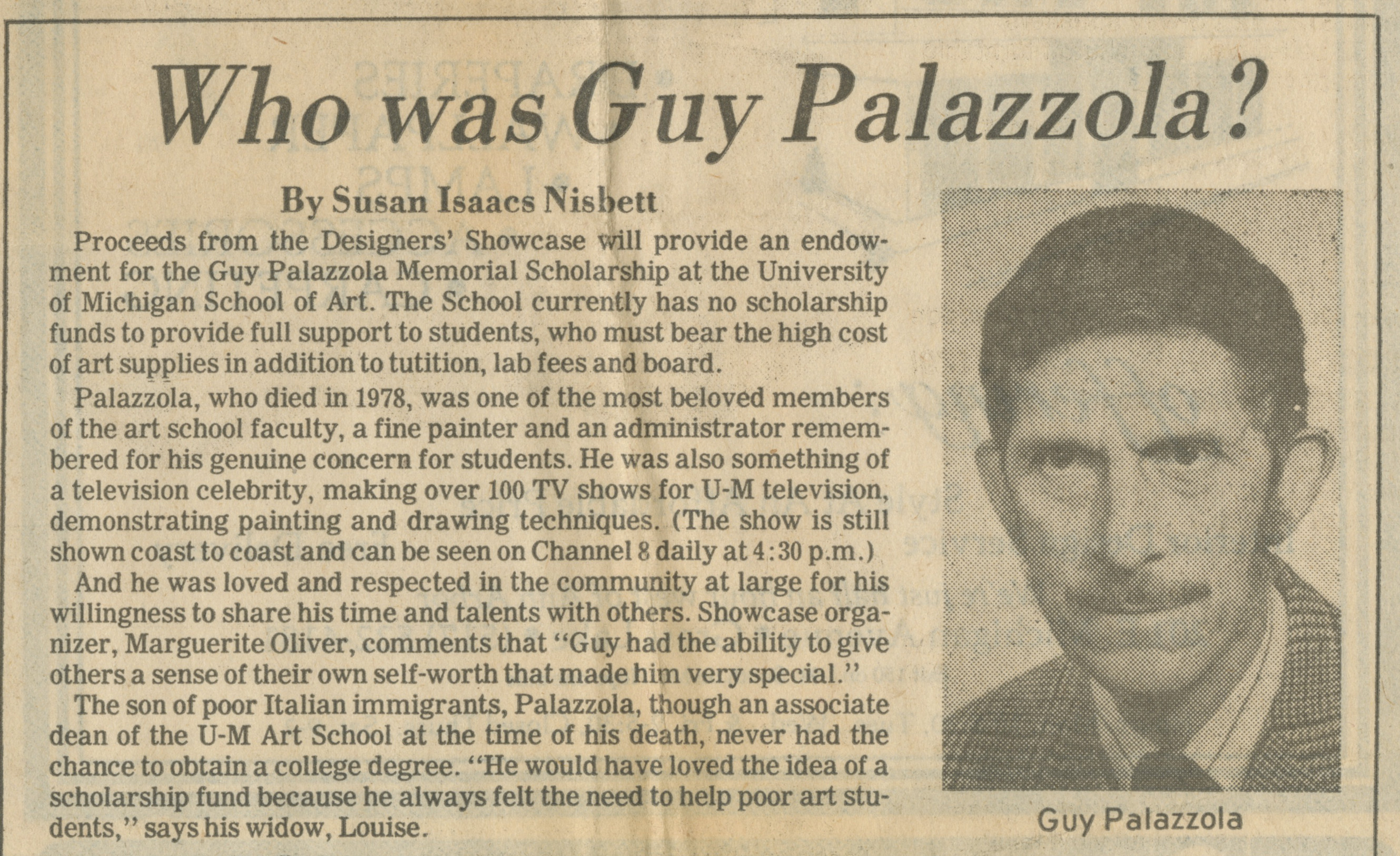Who Was Guy Palazzola? image