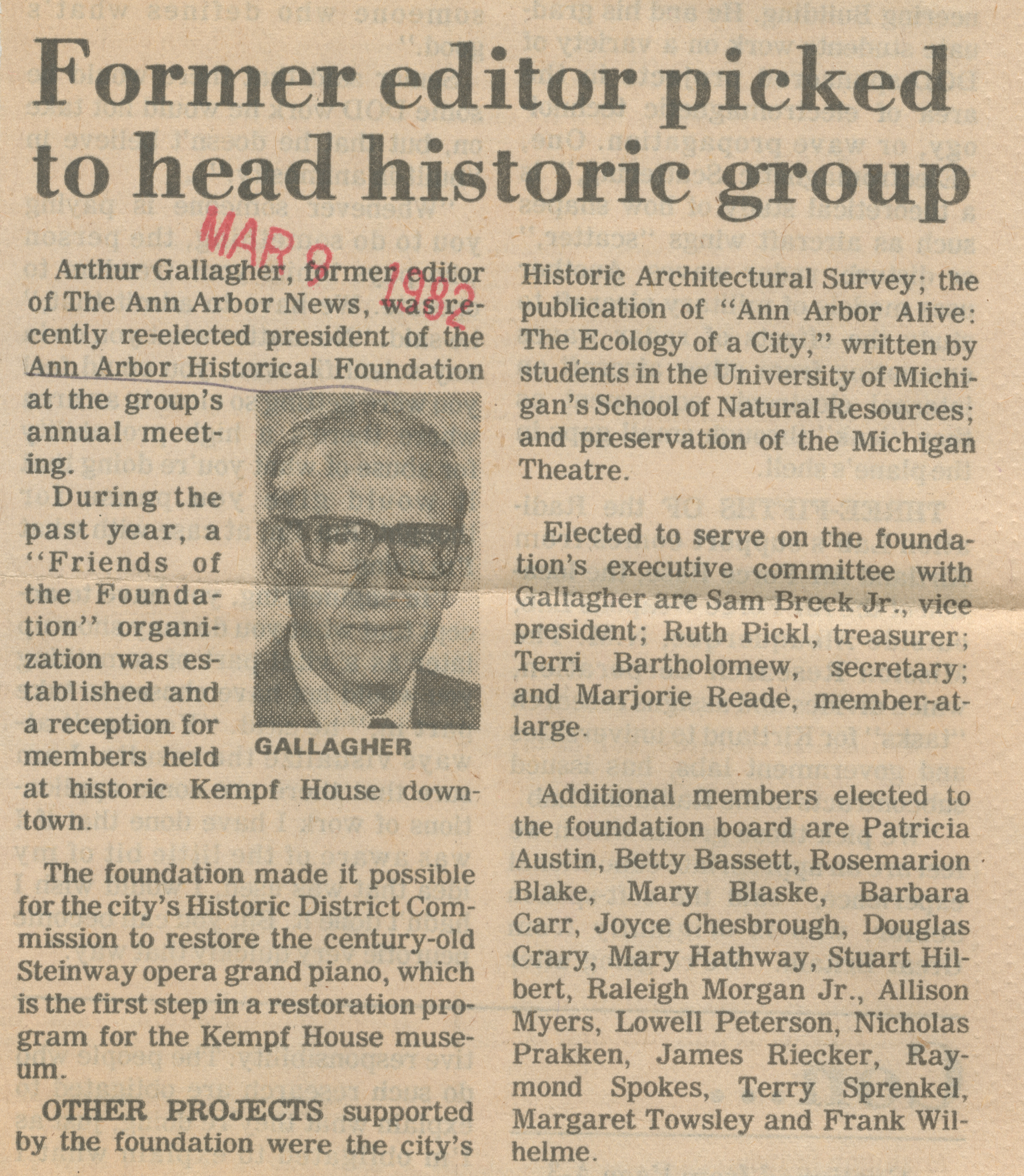 Former editor picked to head historic group image
