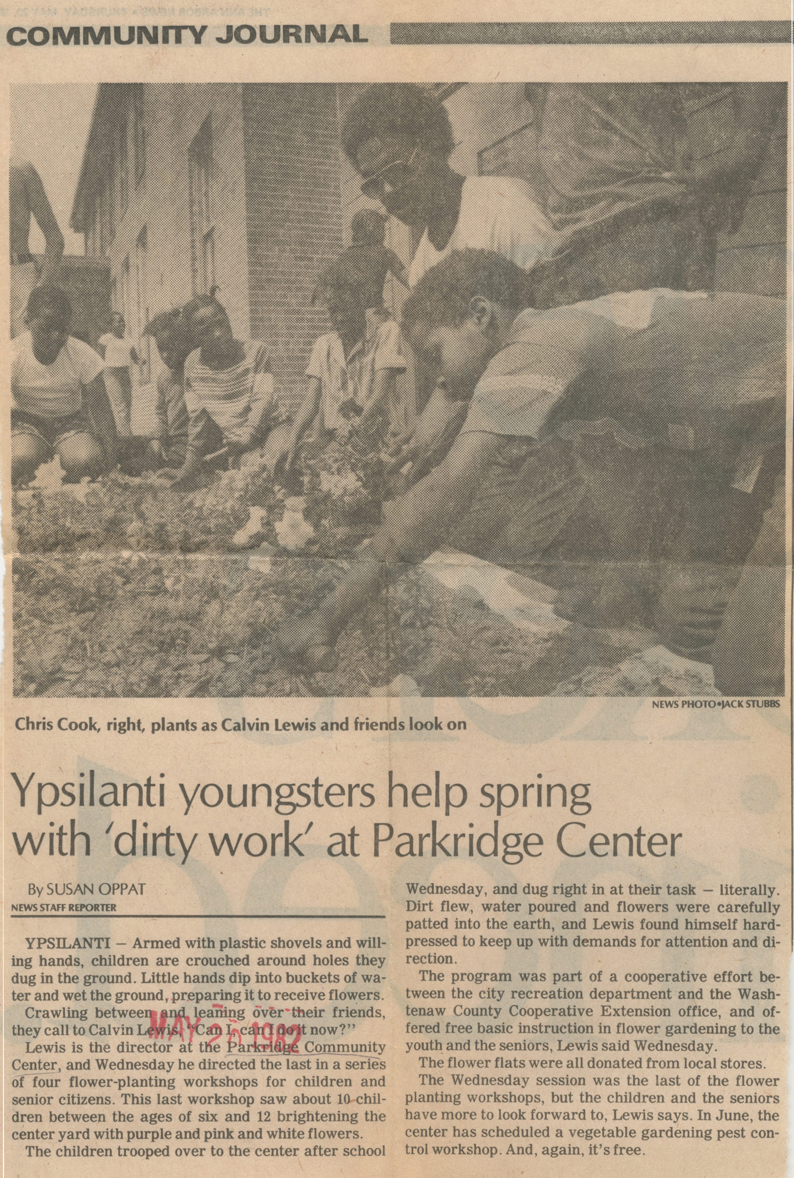 Ypsilanti Youngsters Help Spring With 'Dirty Work' At Parkridge Center image