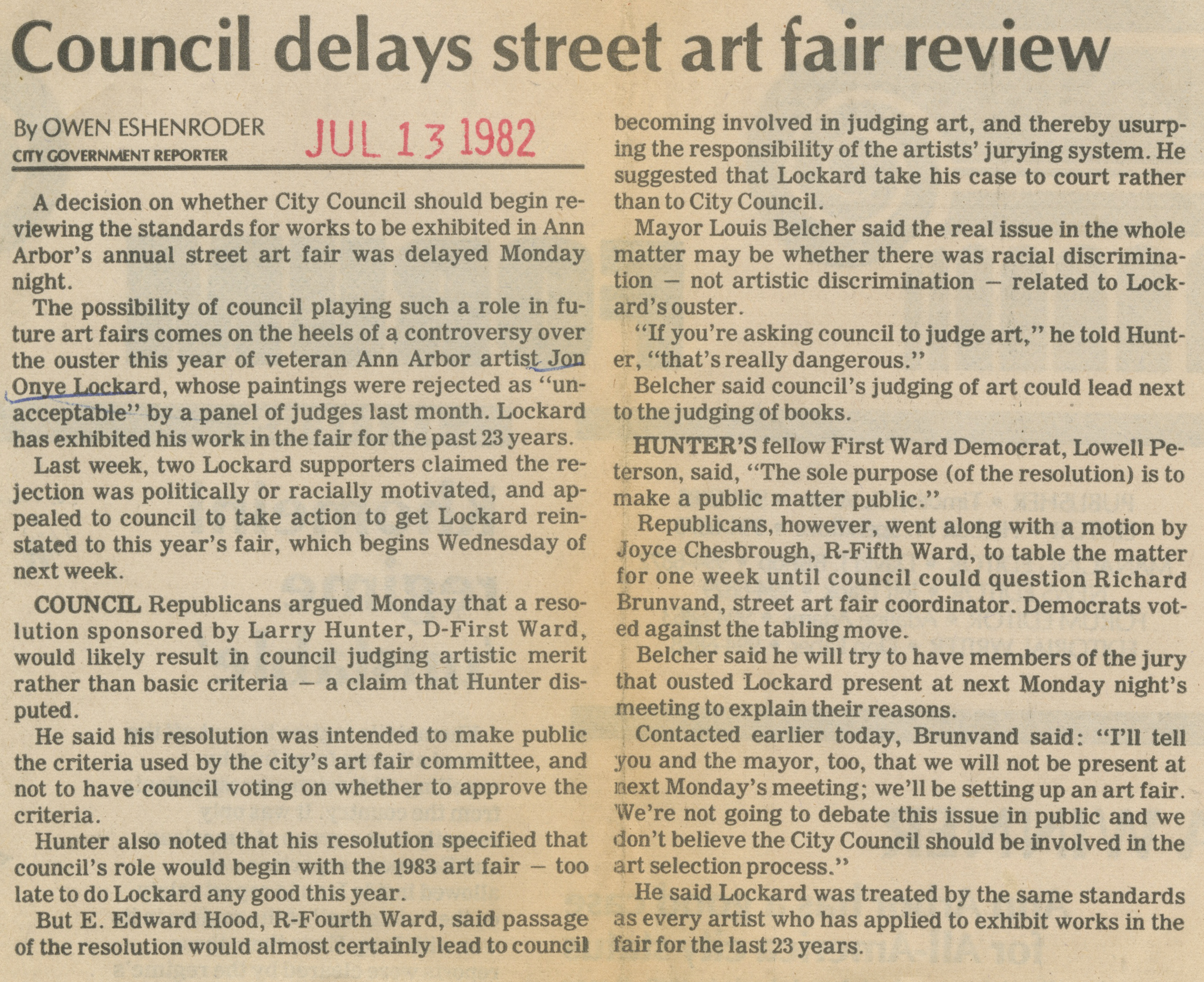 Council delays street art fair review image
