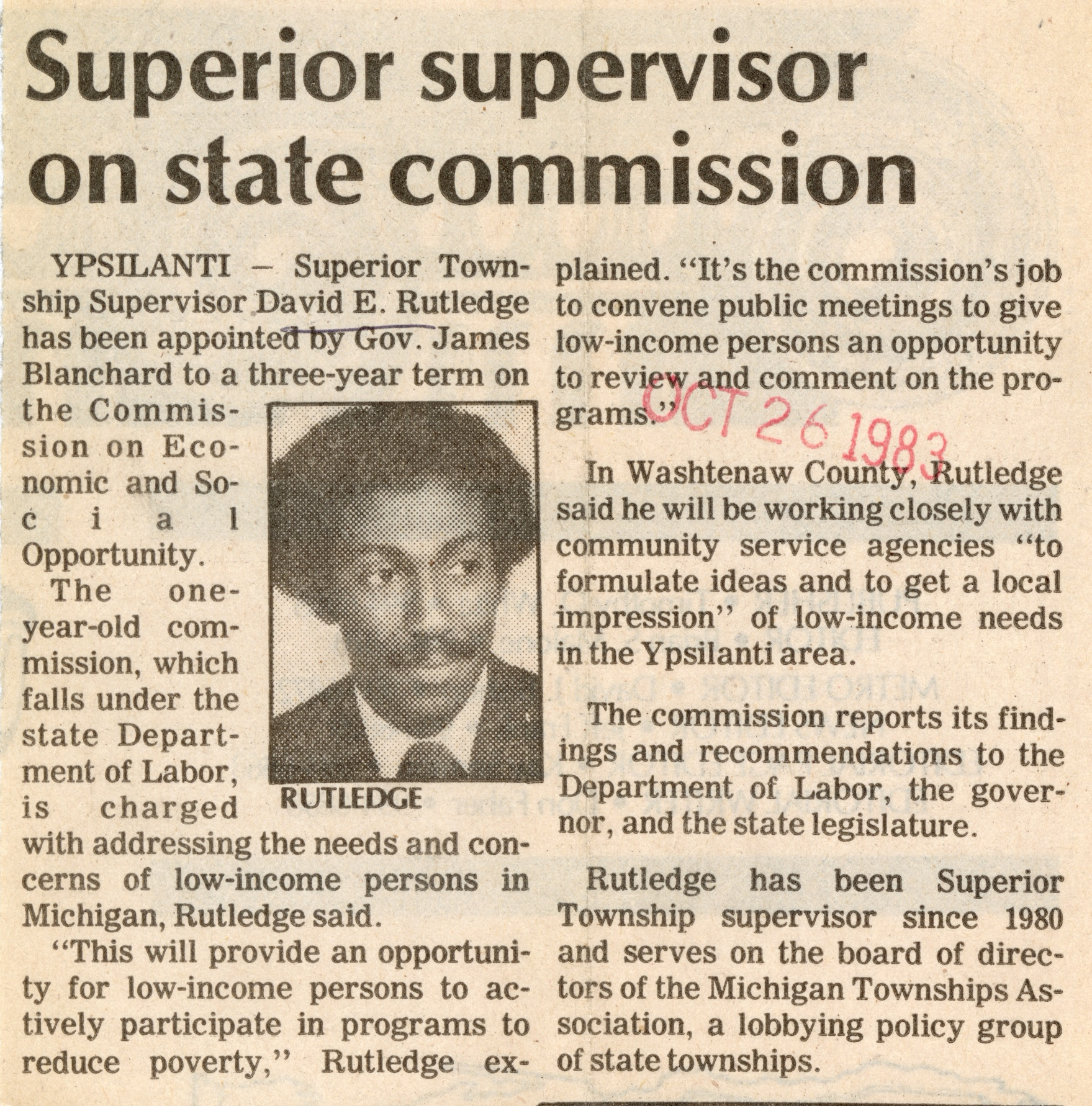Superior Supervisor On State Commission image