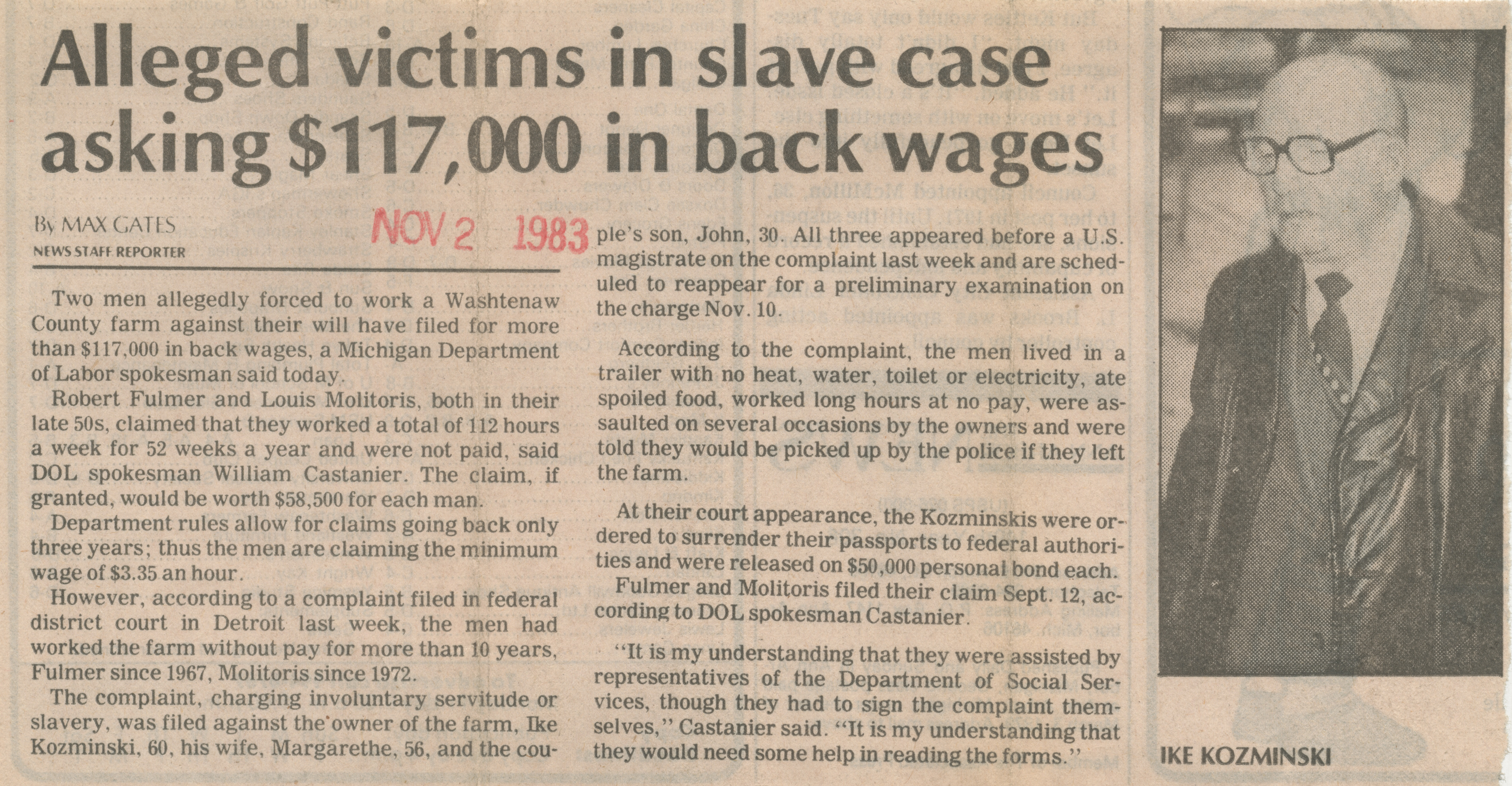Alleged victims in slave case asking $117,000 in back wages image