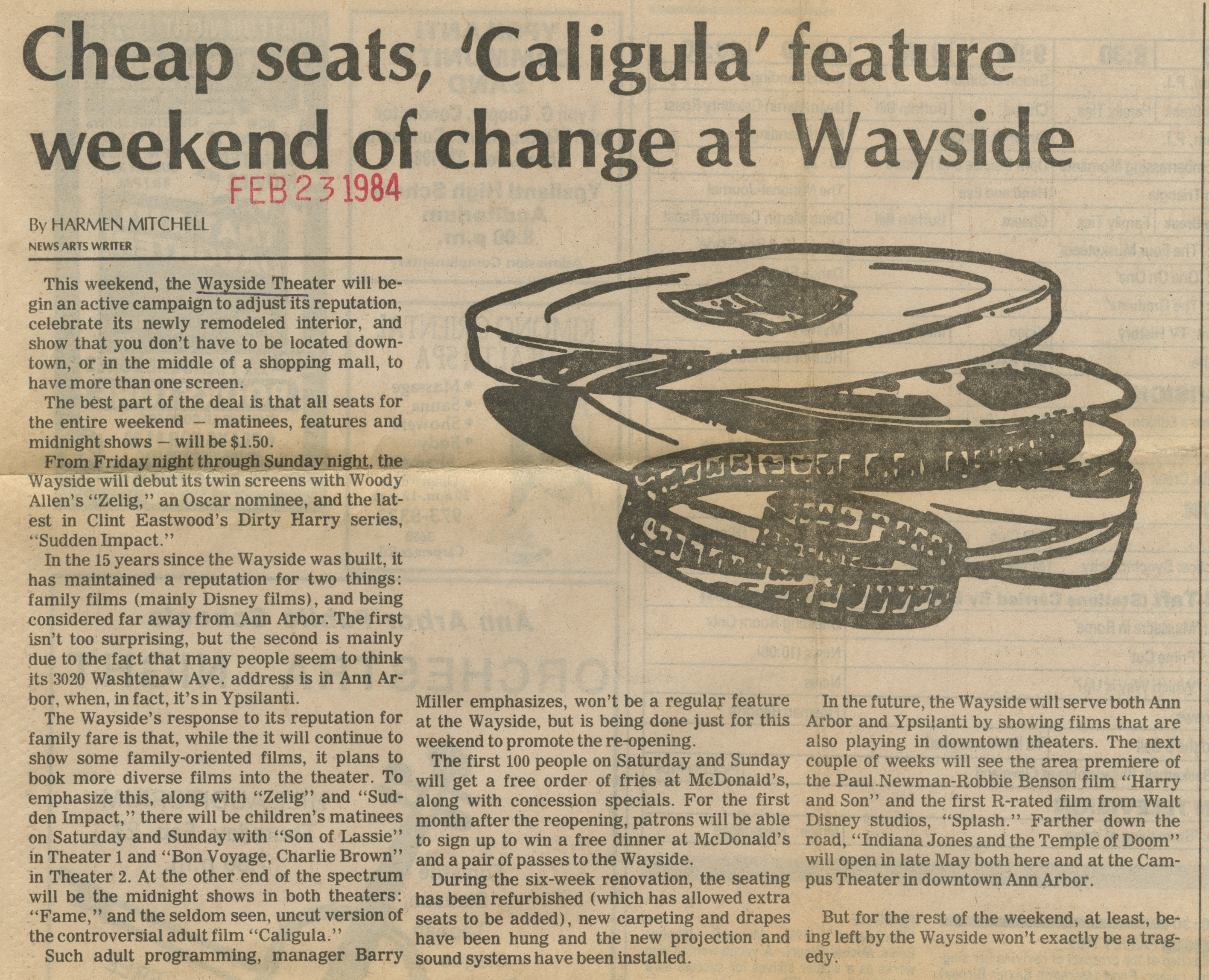 Cheap seats, 'Caligula' feature weekend of change at Wayside image