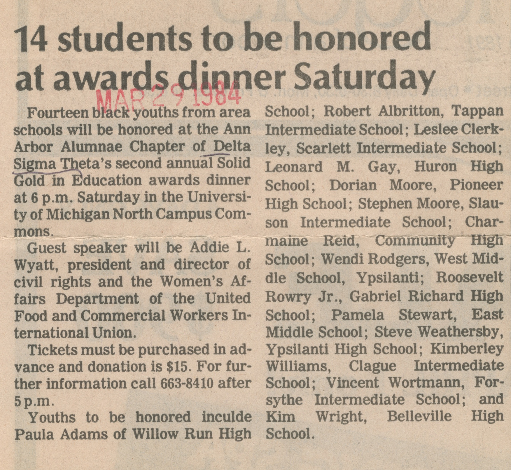 14 Students To Be Honored At Awards Dinner Saturday image