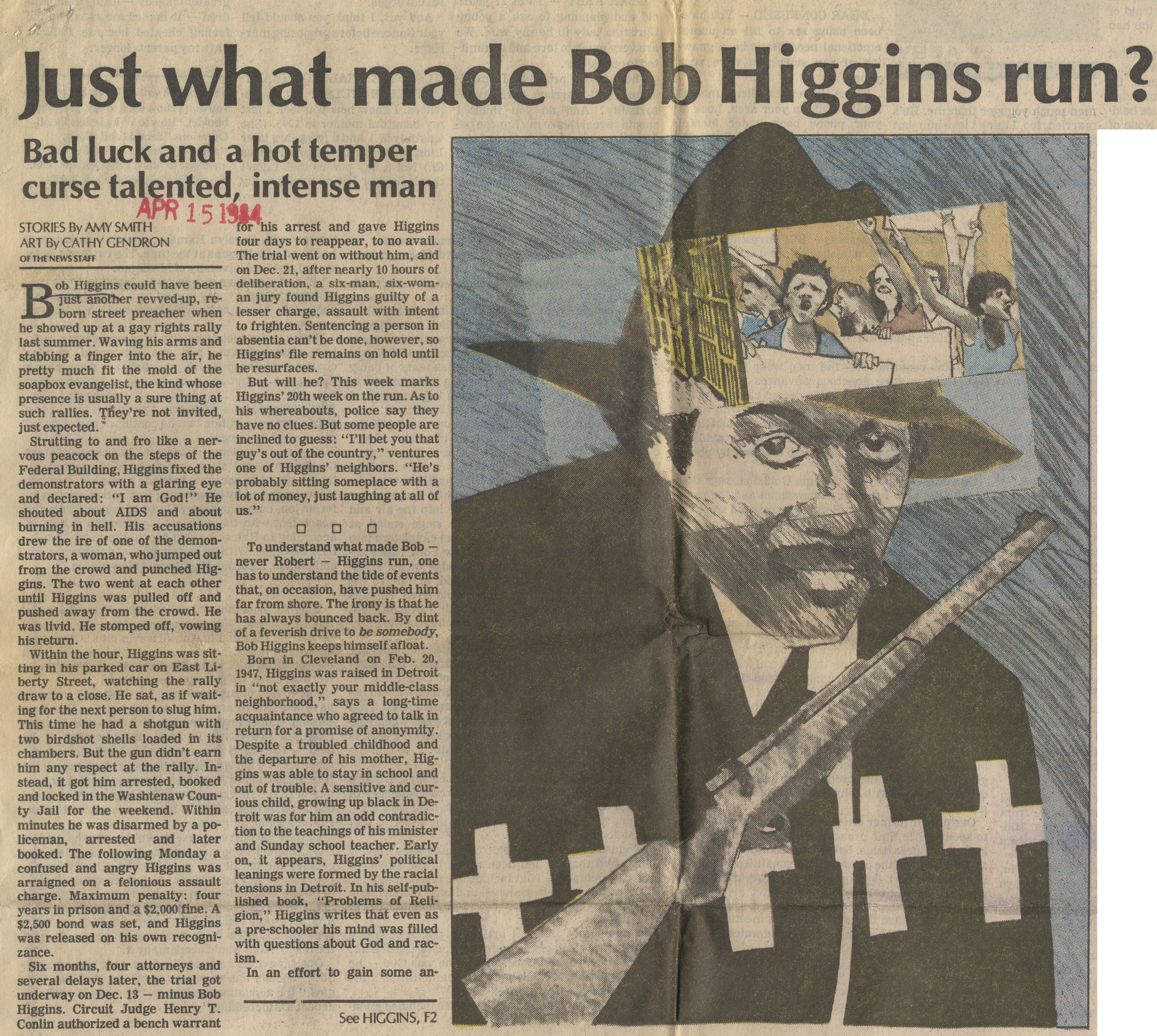 Just What Made Bob Higgins Run? image