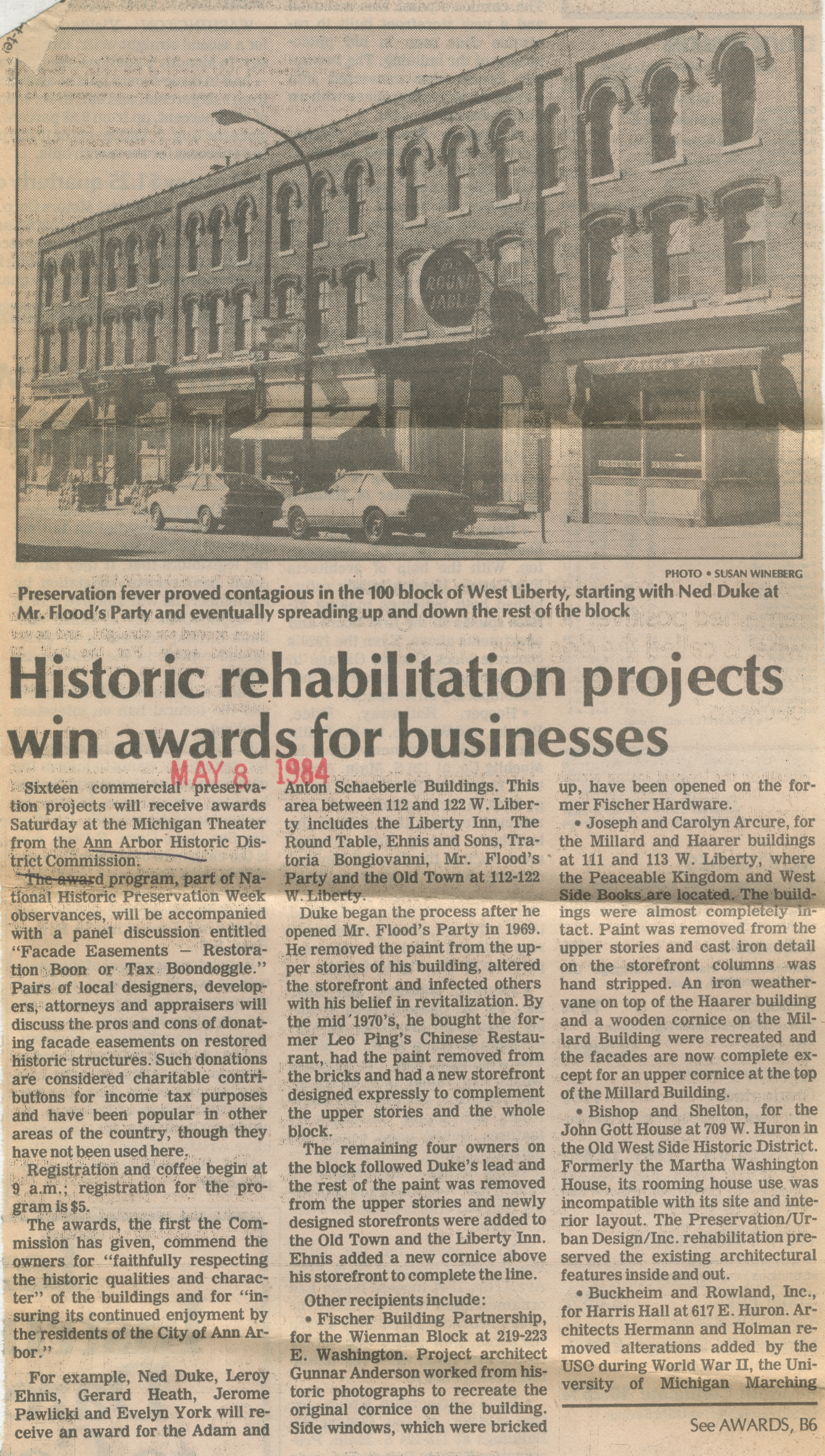 Historic rehabilitation projects win awards for businesses image