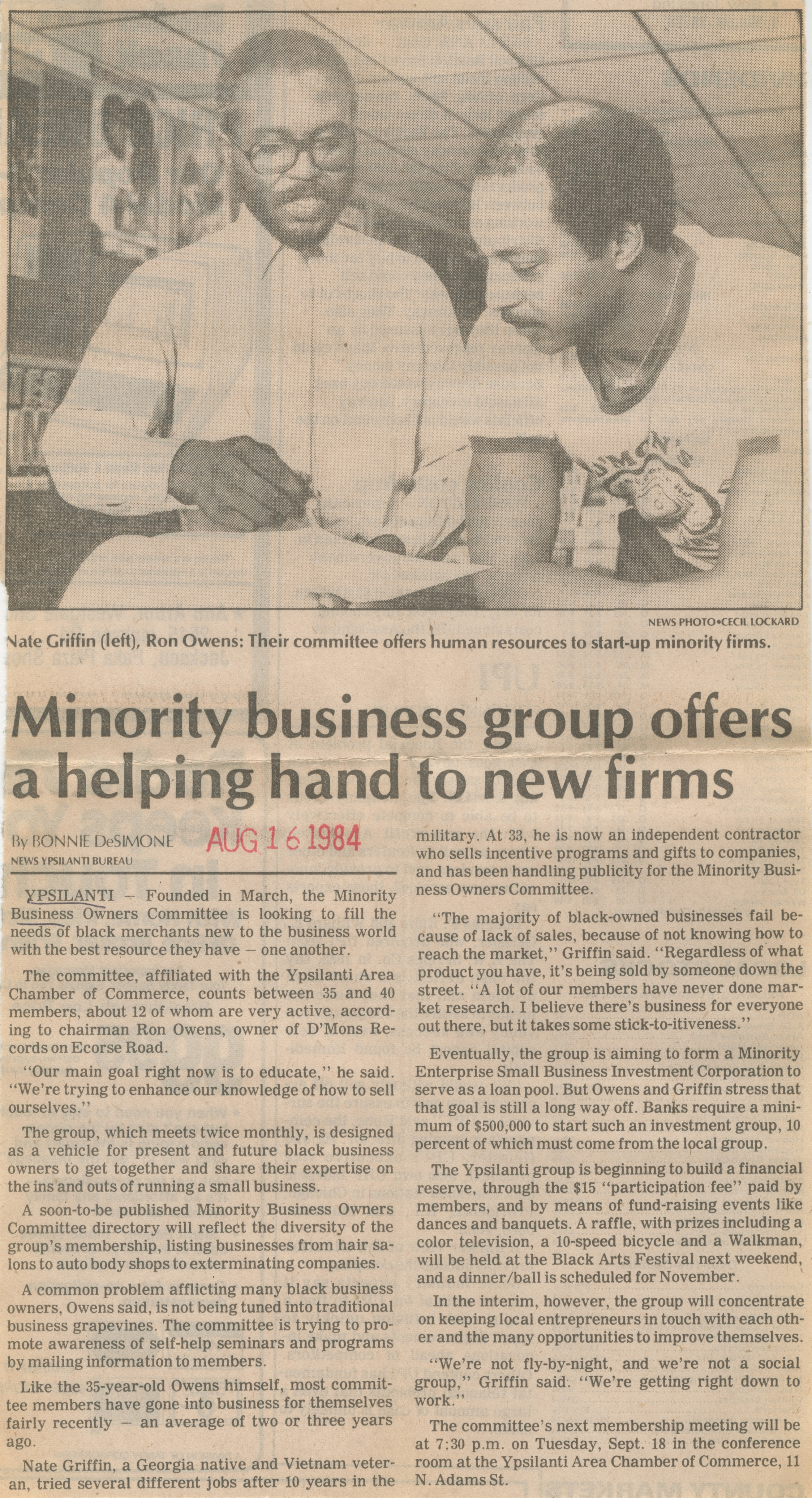 Minority Business Group Offers a Helping Hand to New Firms image