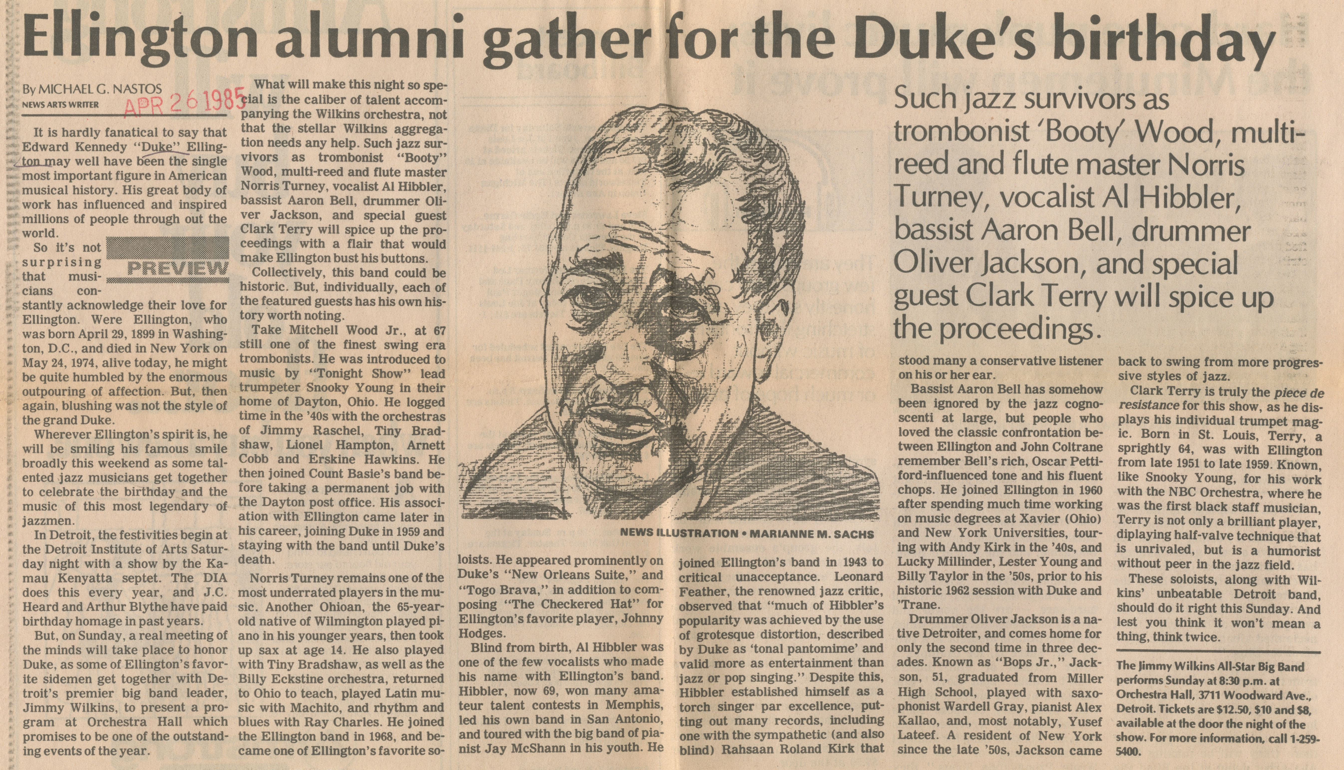 Ellington Alumni Gather For The Duke's Birthday image