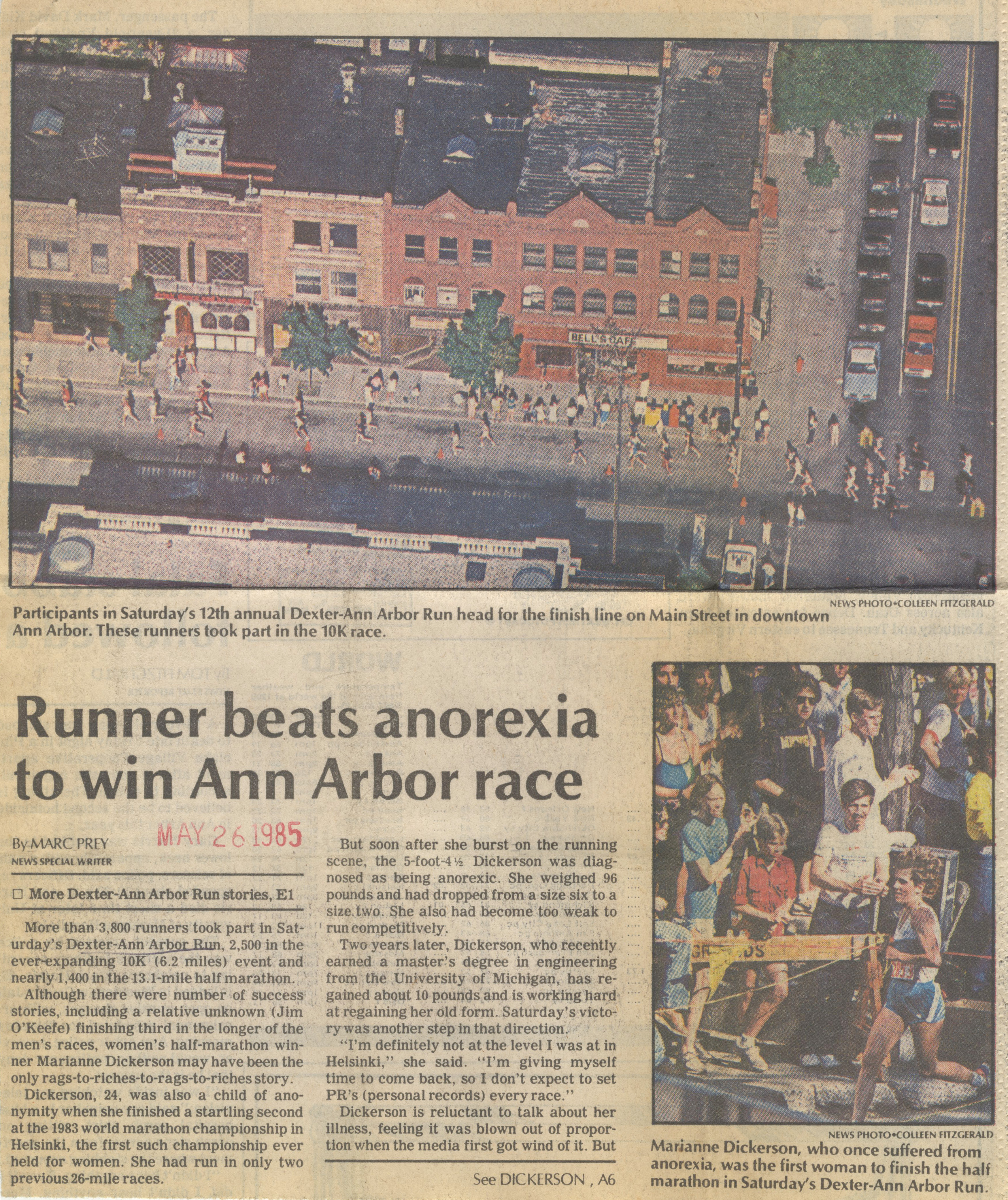 Runner beats anorexia to win Ann Arbor race image