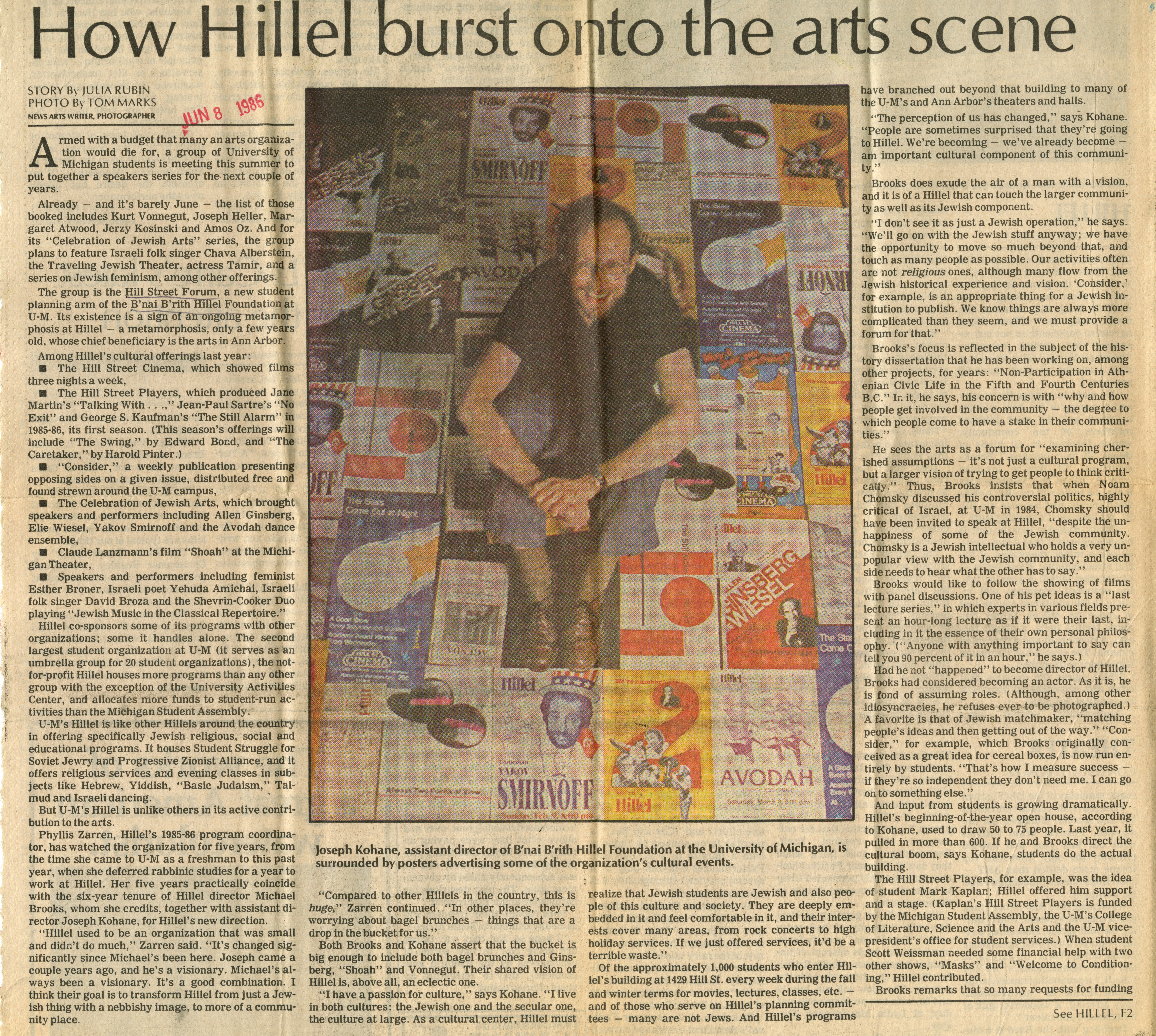 How Hillel Burst Onto The Arts Scene image