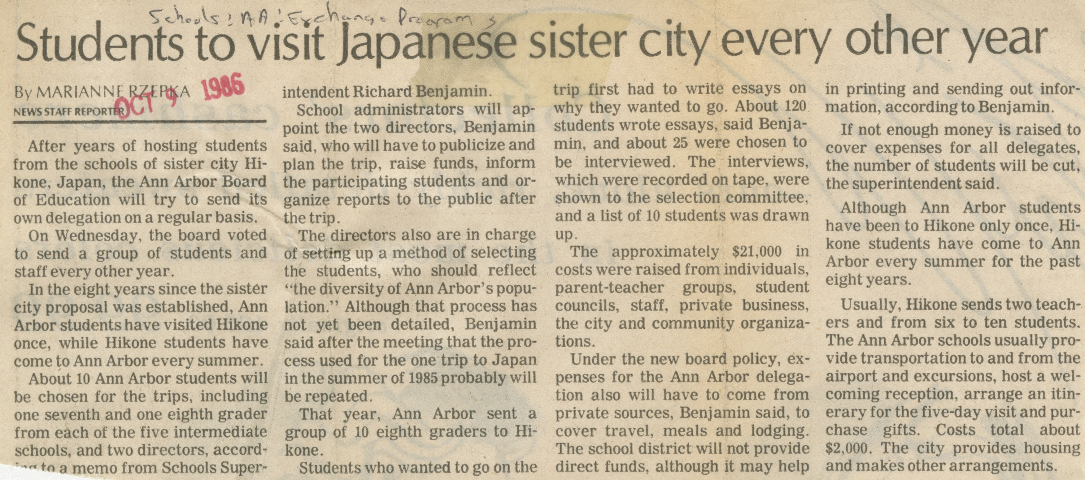 Student To Visit Japanese Sister City Every Other Year image