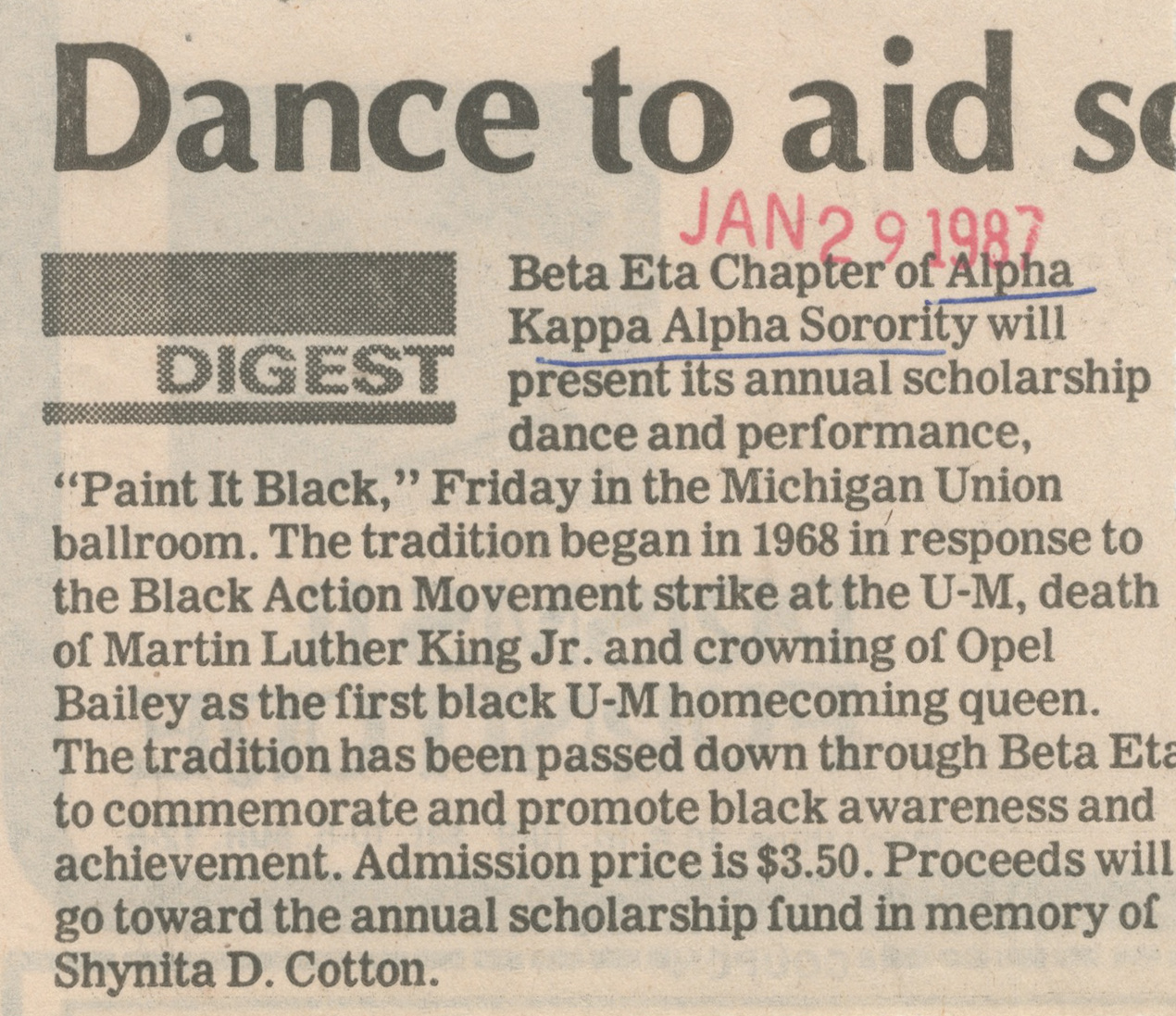 Dance To Aid Sorority image