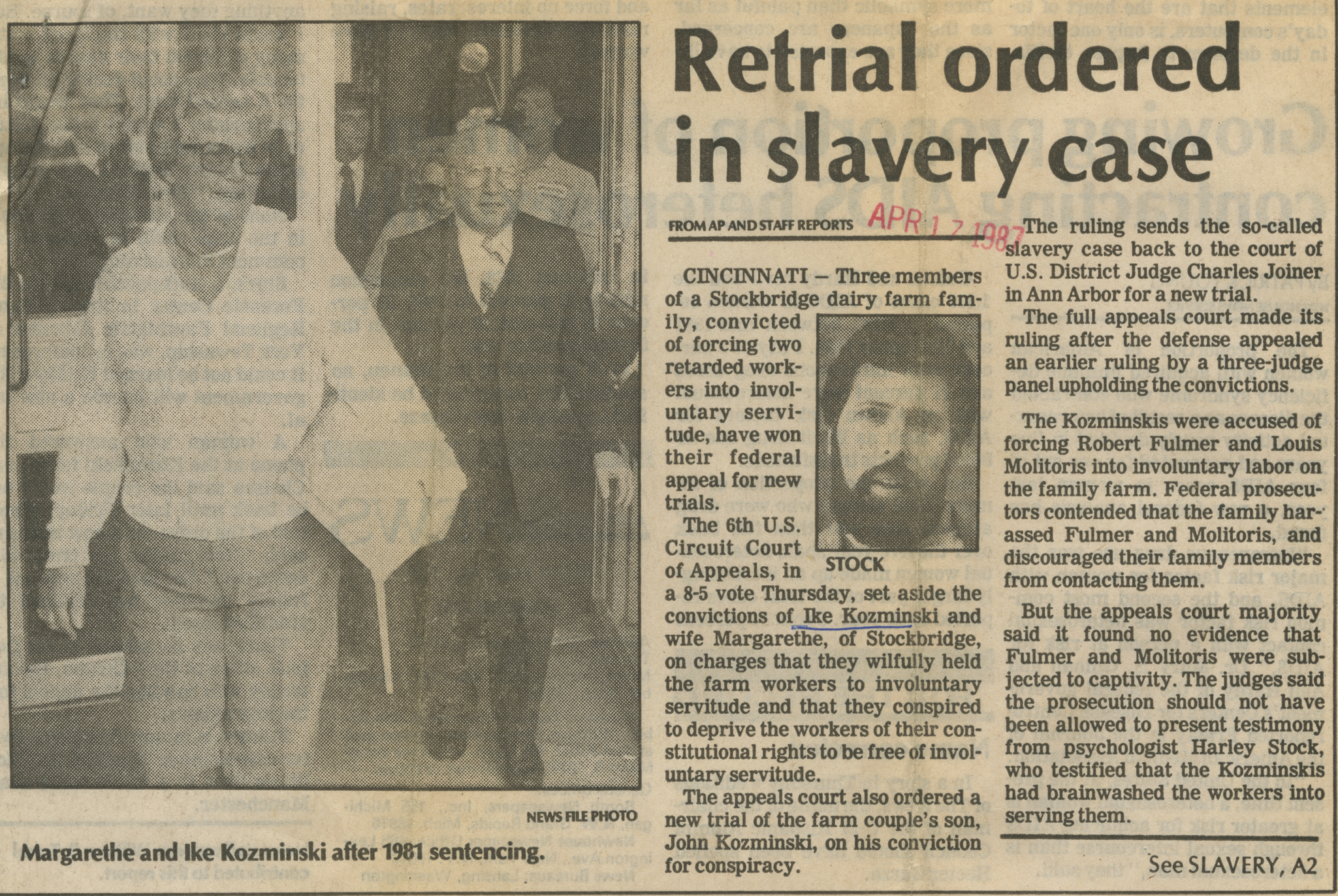 Retrial ordered in slavery case image