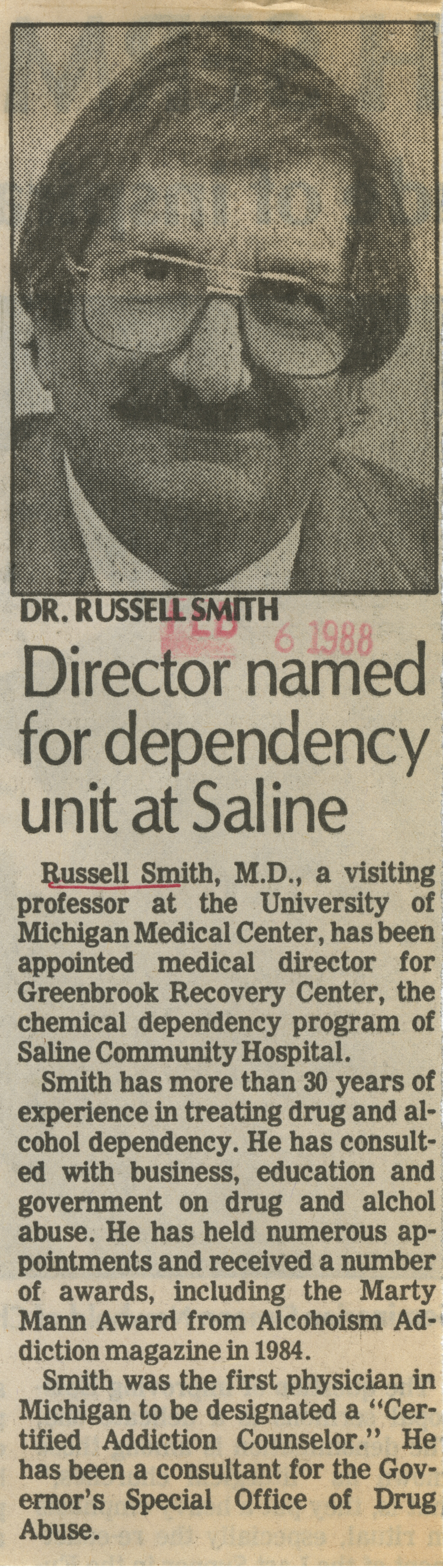 Director named for dependency unit at Saline image