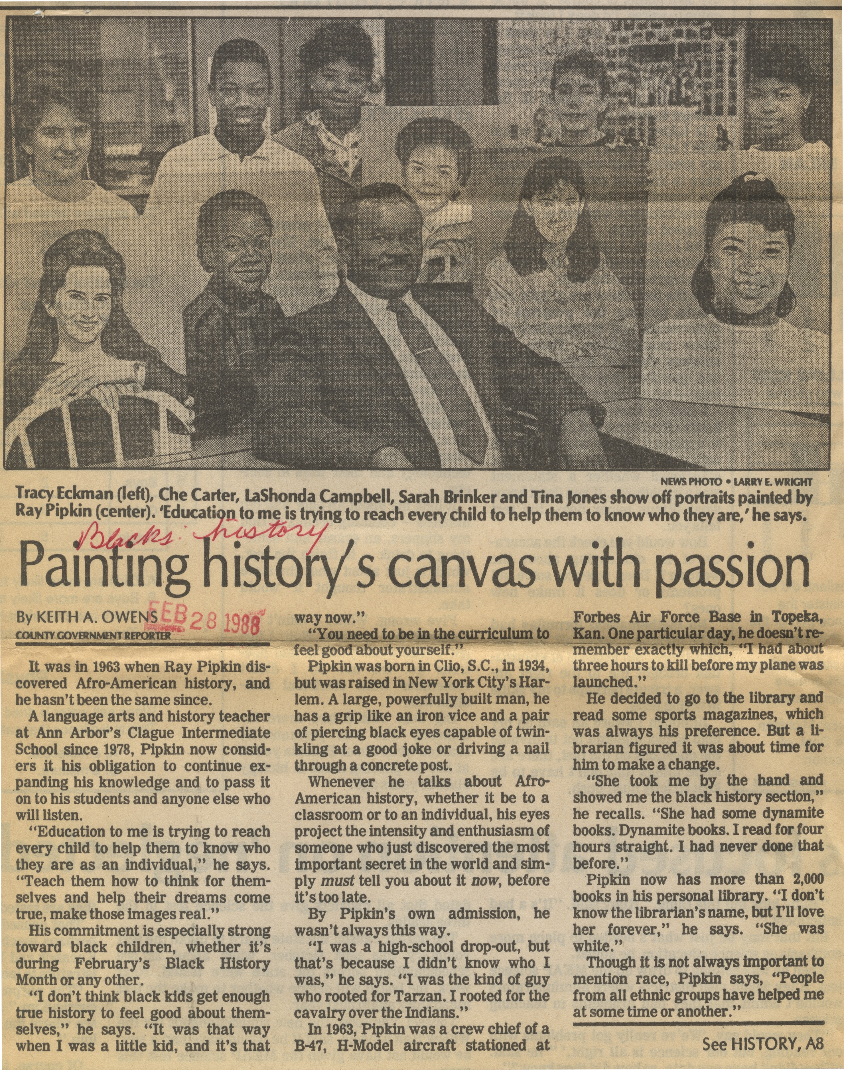Painting History's Canvas With Passion image