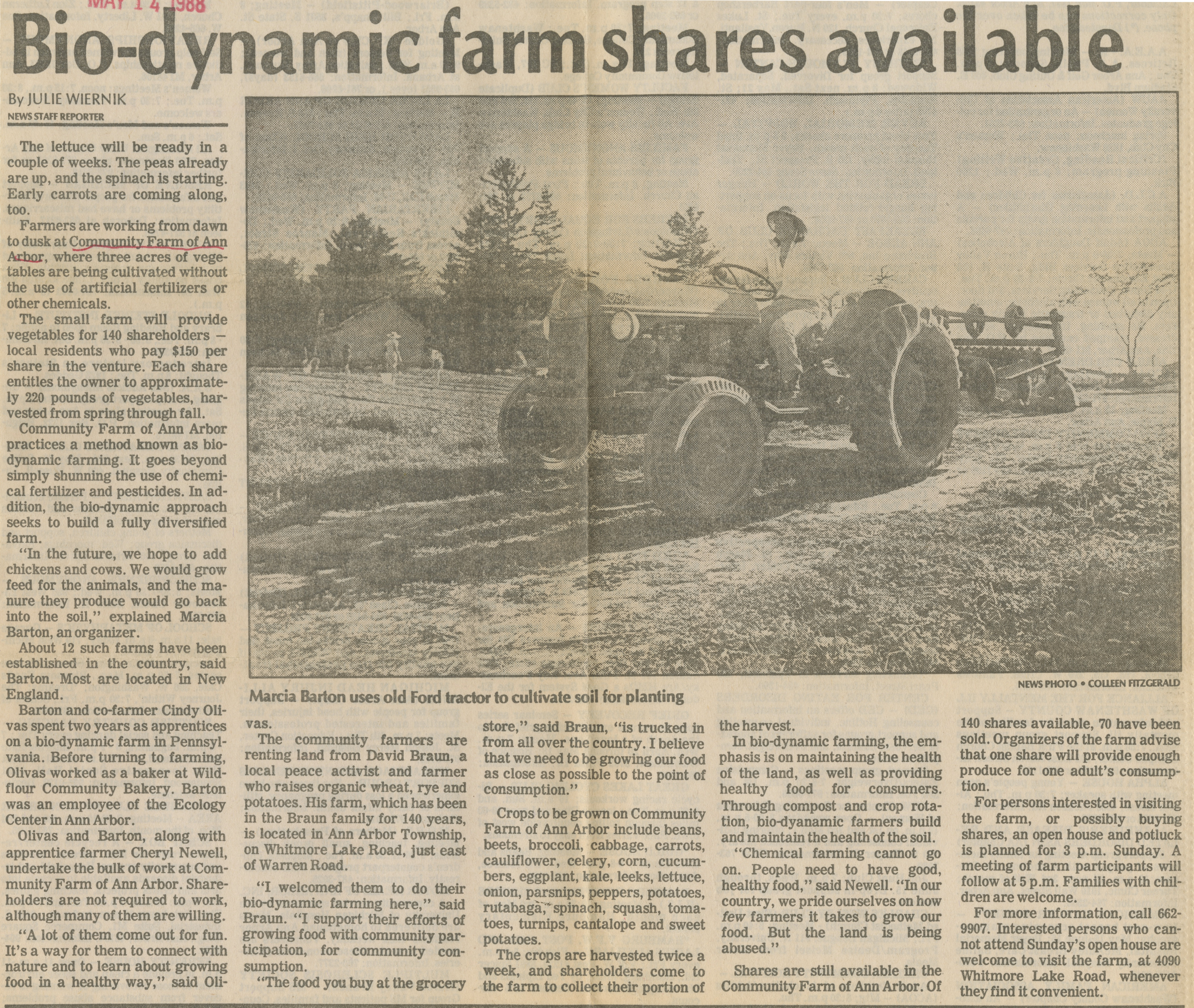 Bio-Dynamic Farm Shares Available image