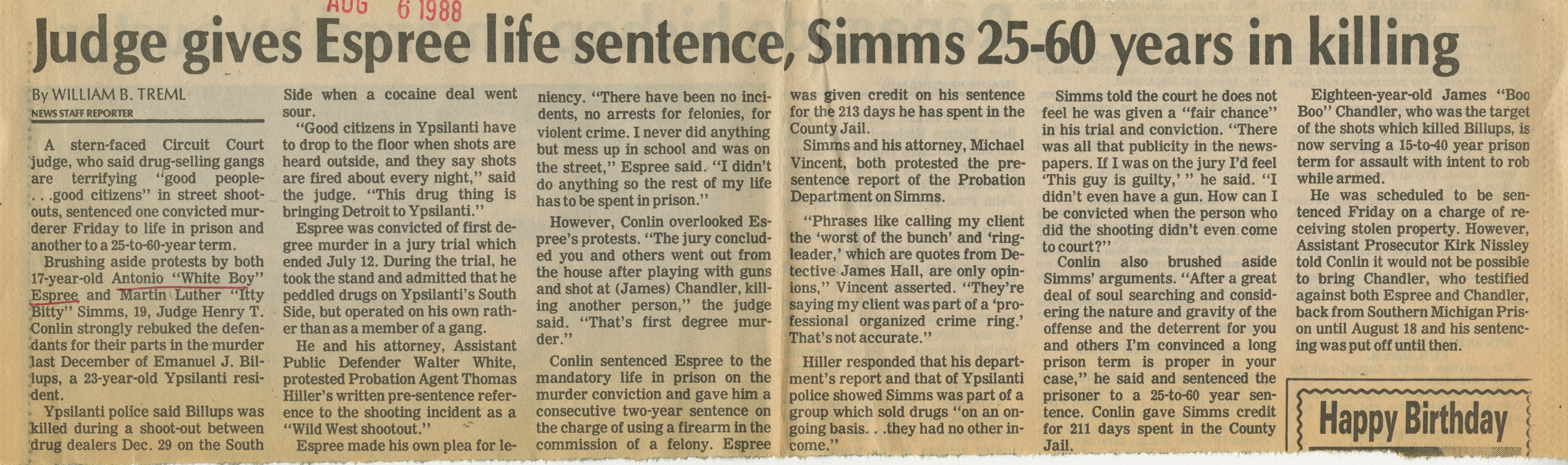 Judge gives Espree life sentence, Sims 25-60 years in killing image
