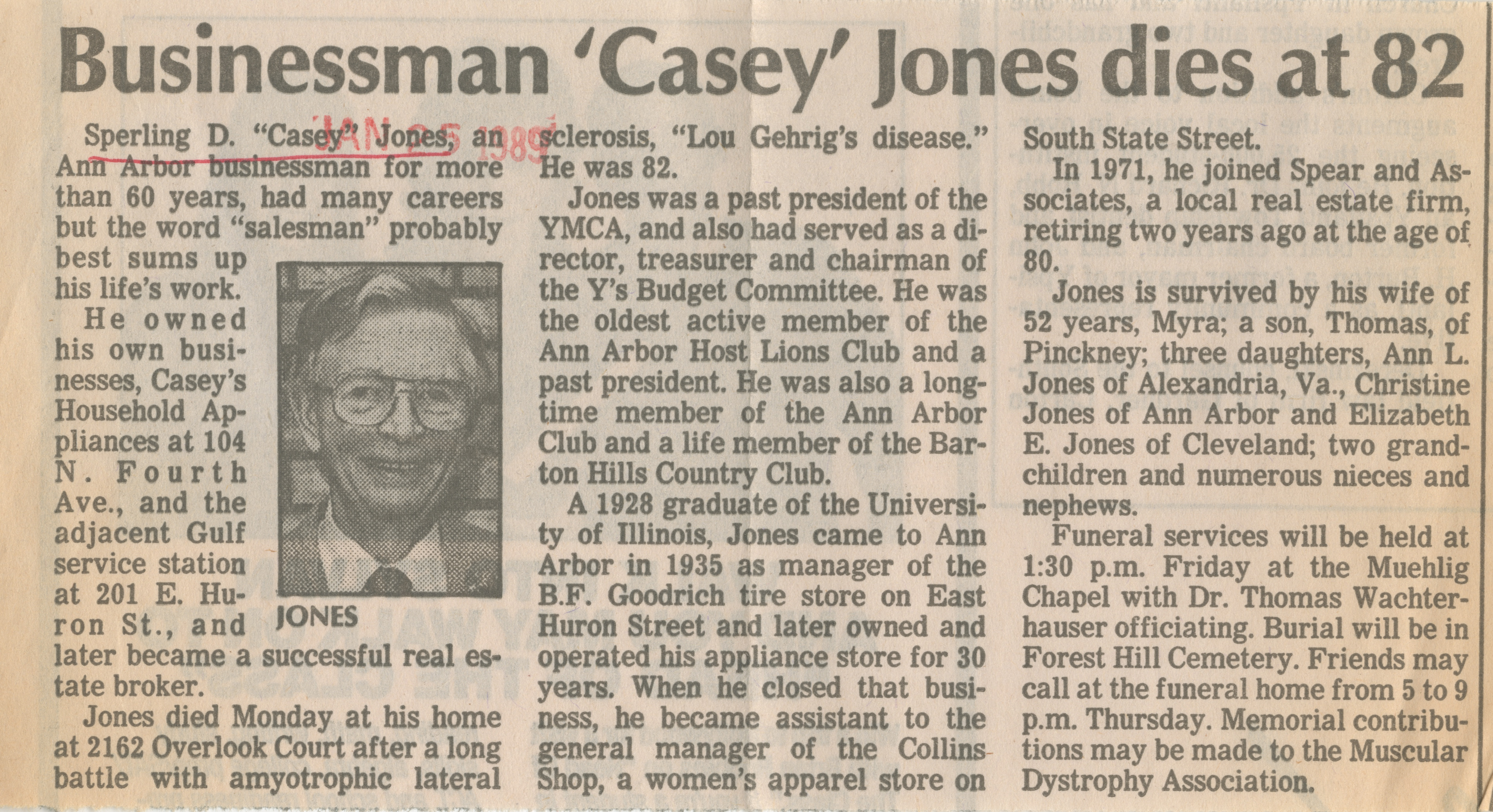 Businessman 'Casey' Jones dies at 82 image