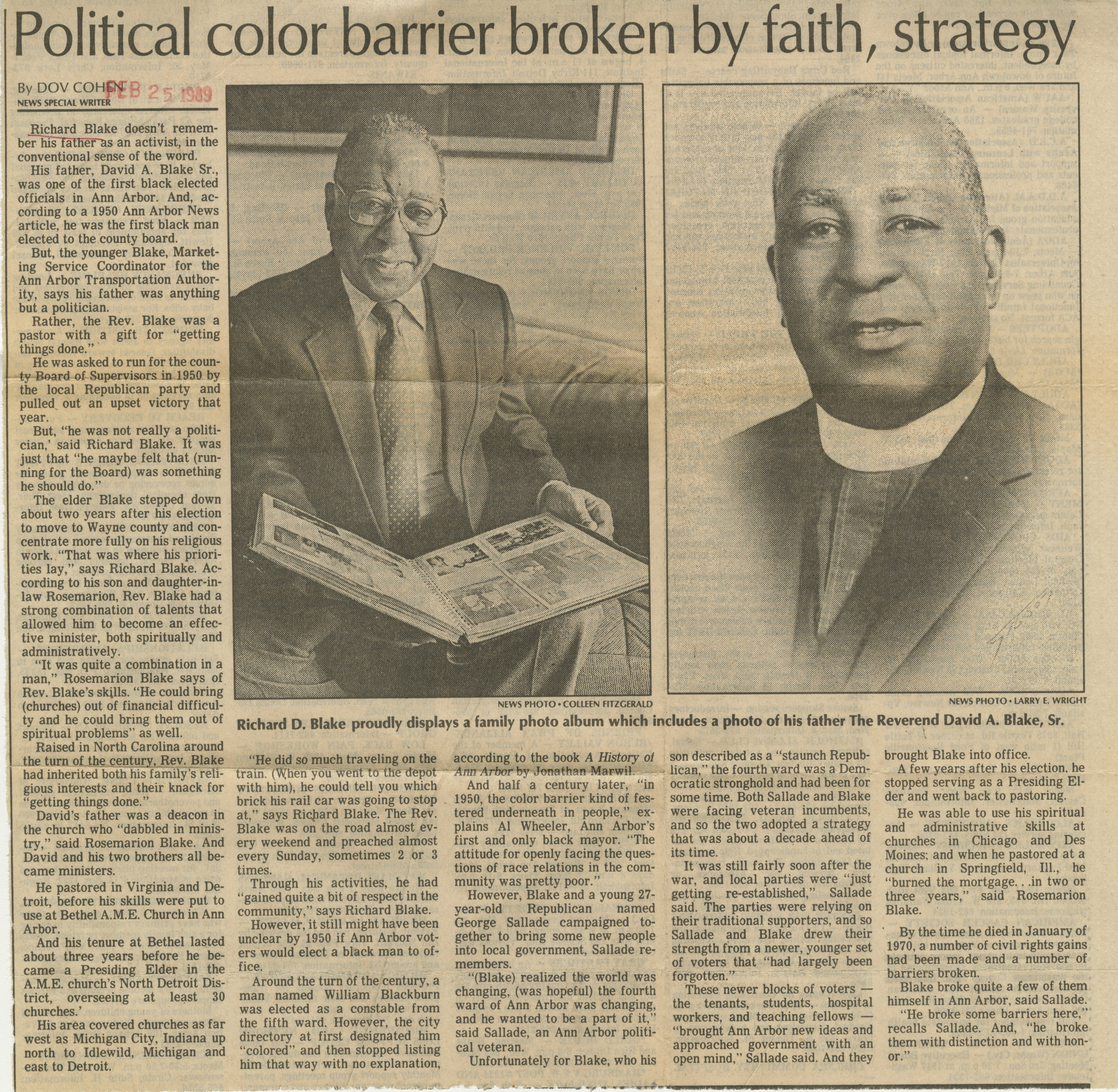 Political color barrier broken by faith, strategy image