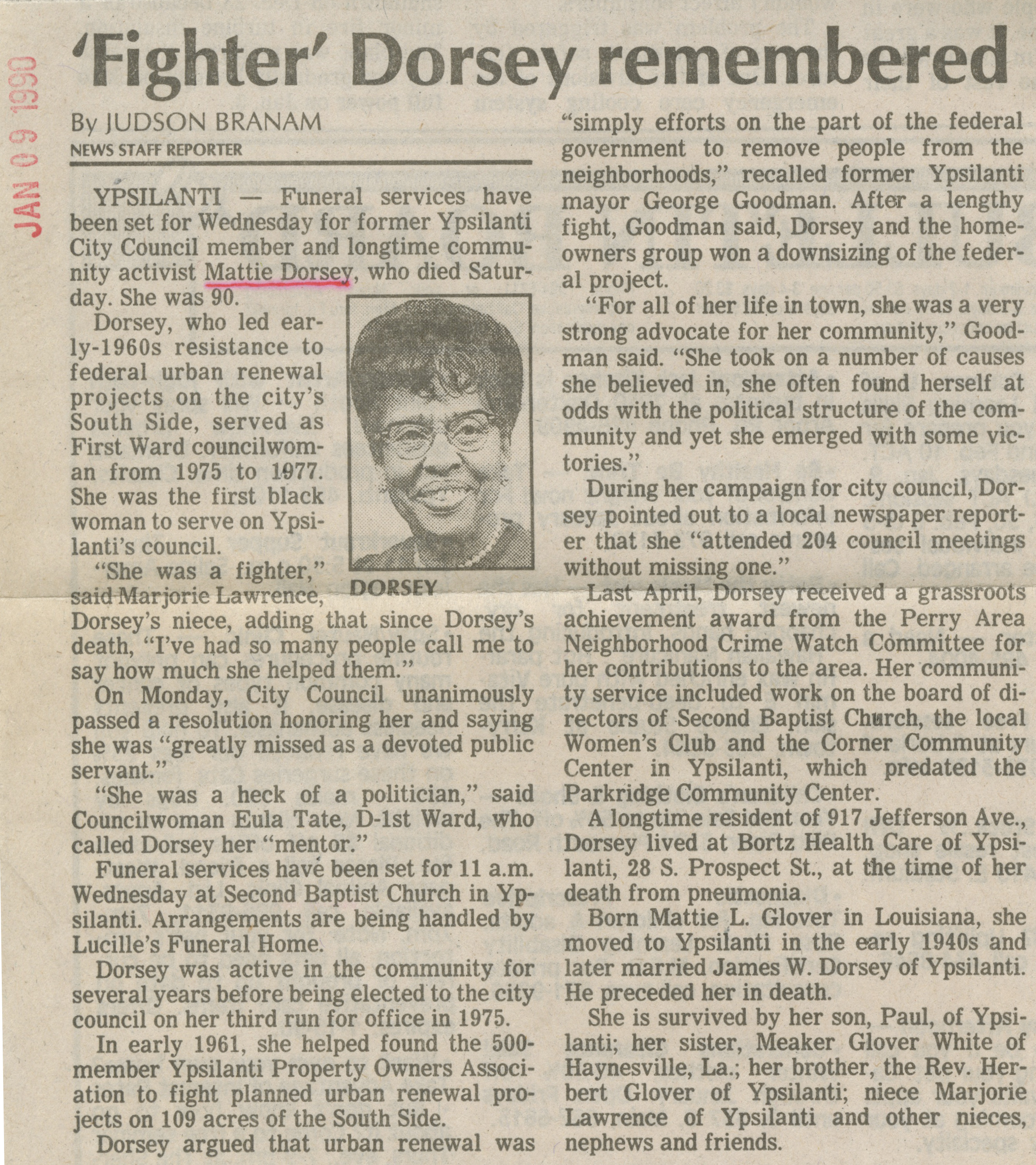 'Fighter' Dorsey Remembered image