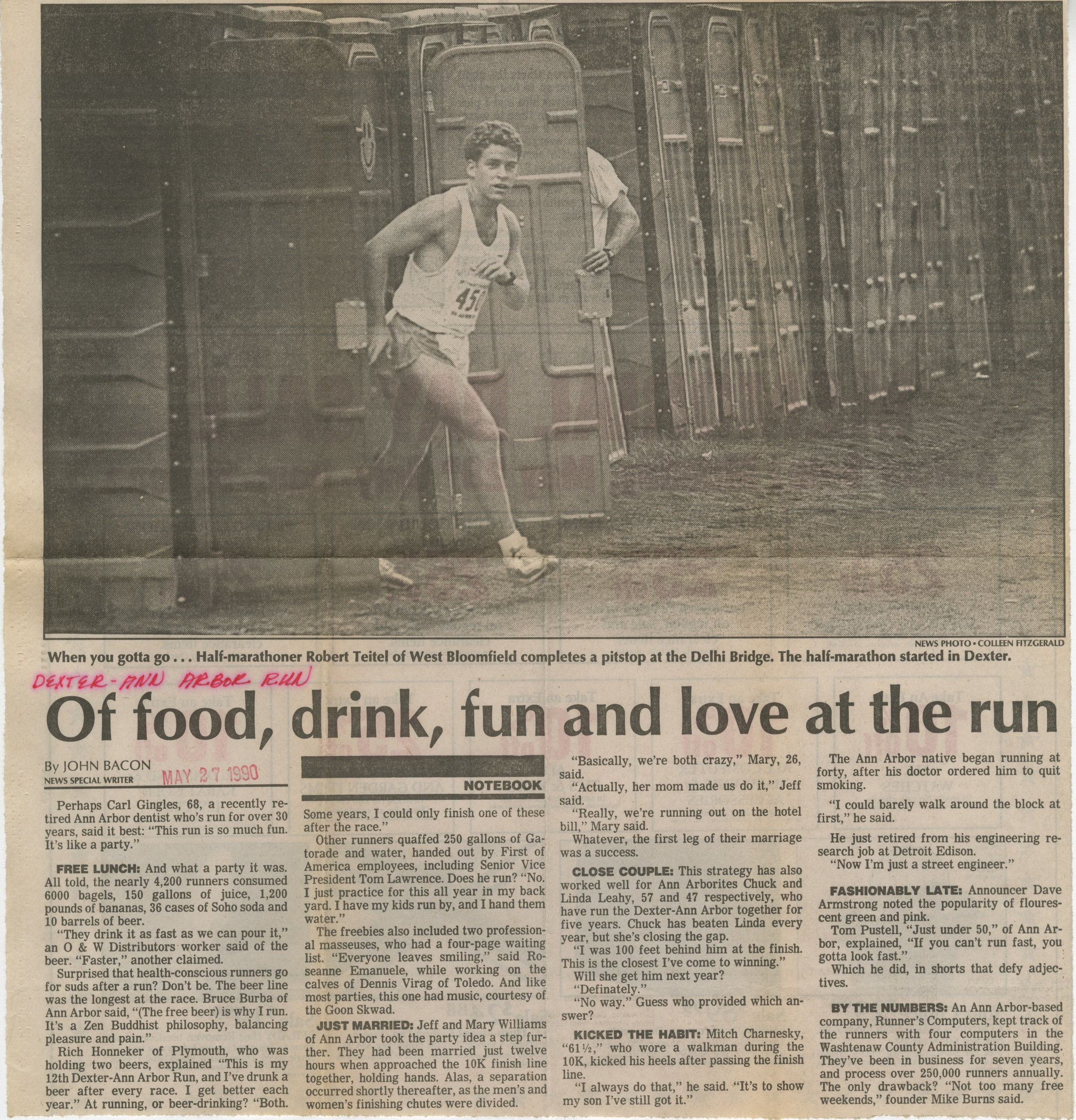 Of food, drink, fun and love at the run image