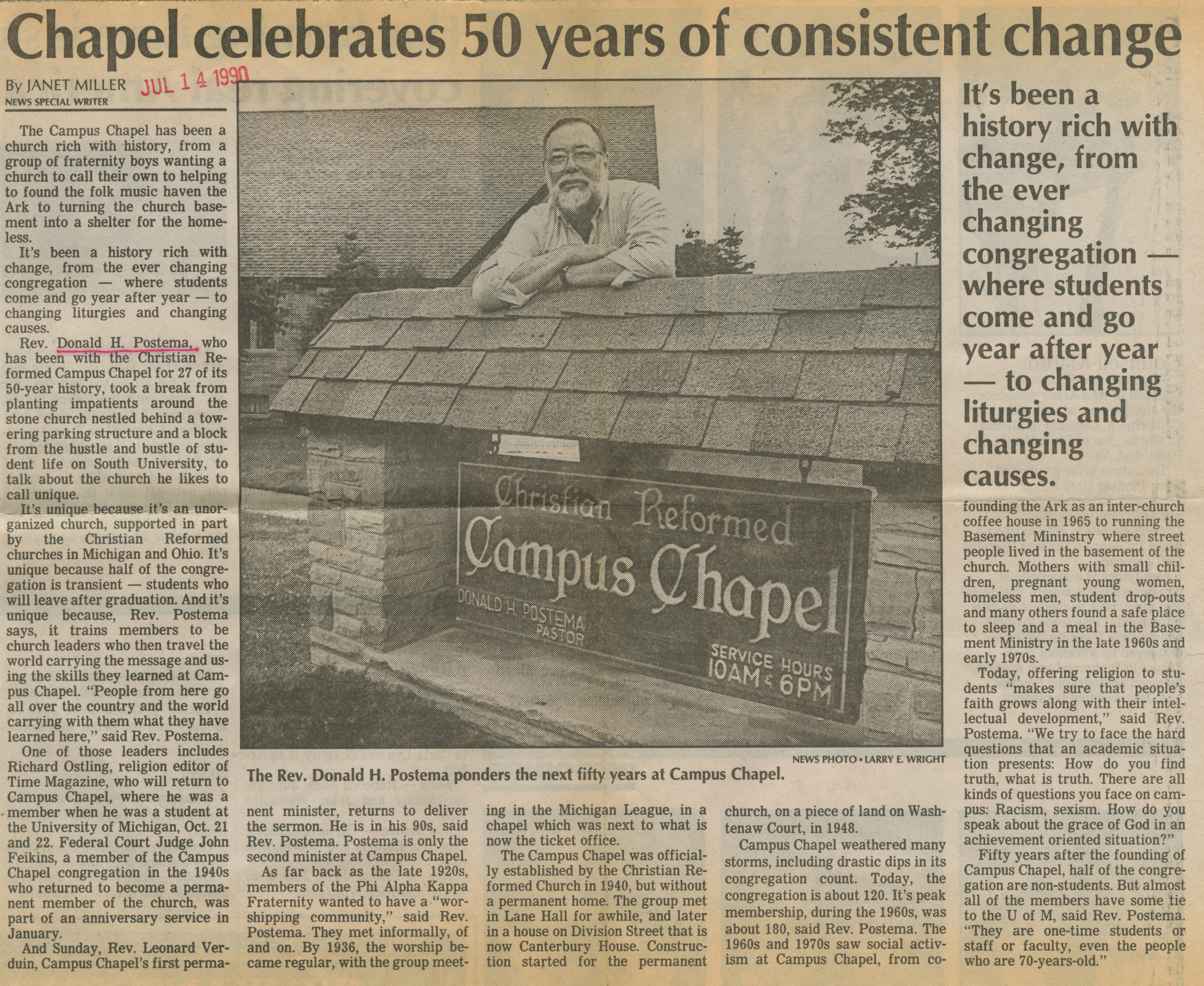 Chapel celebrates 50 years of consistent change image