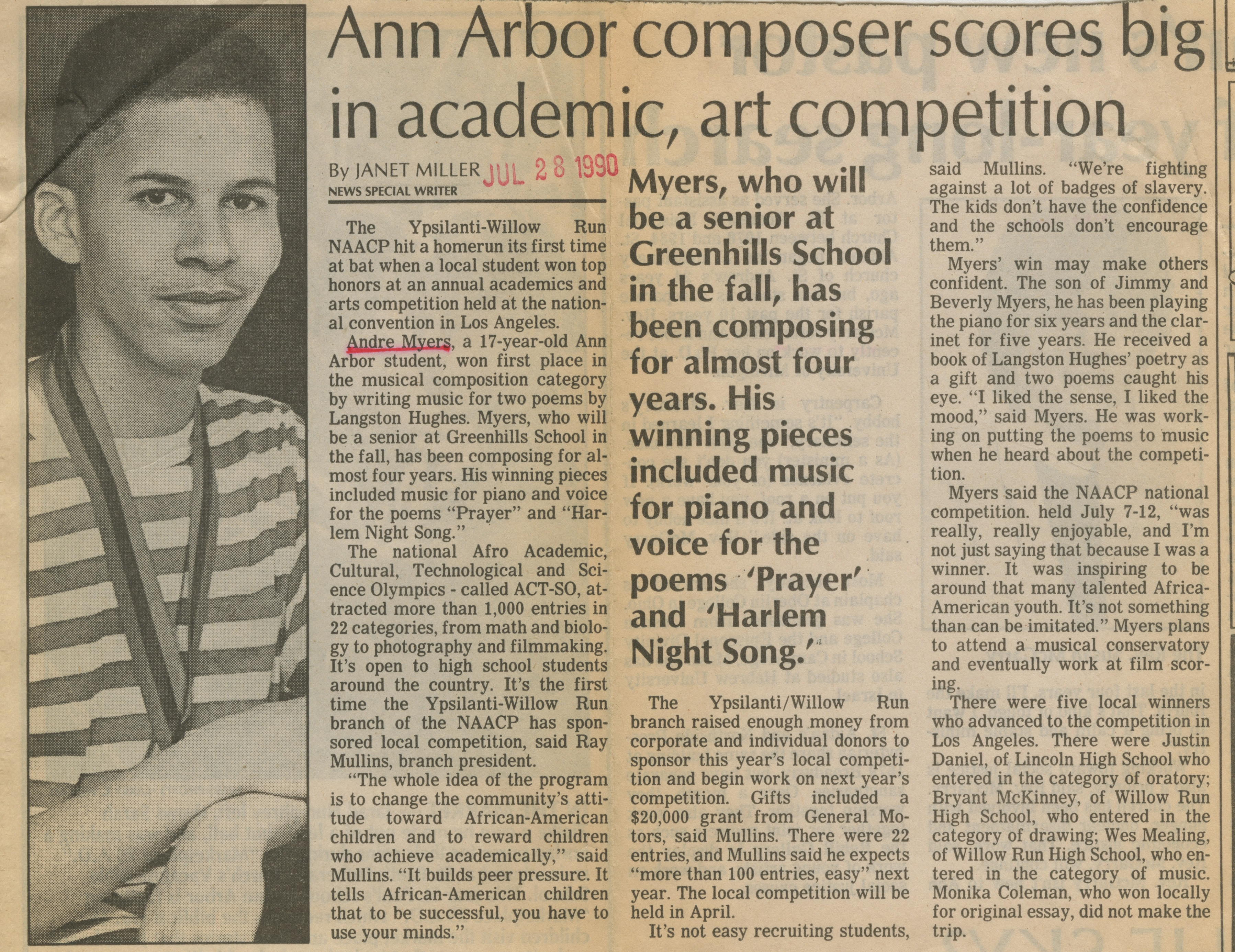 Ann Arbor Composer Scores Big In Academic, Art Competition image