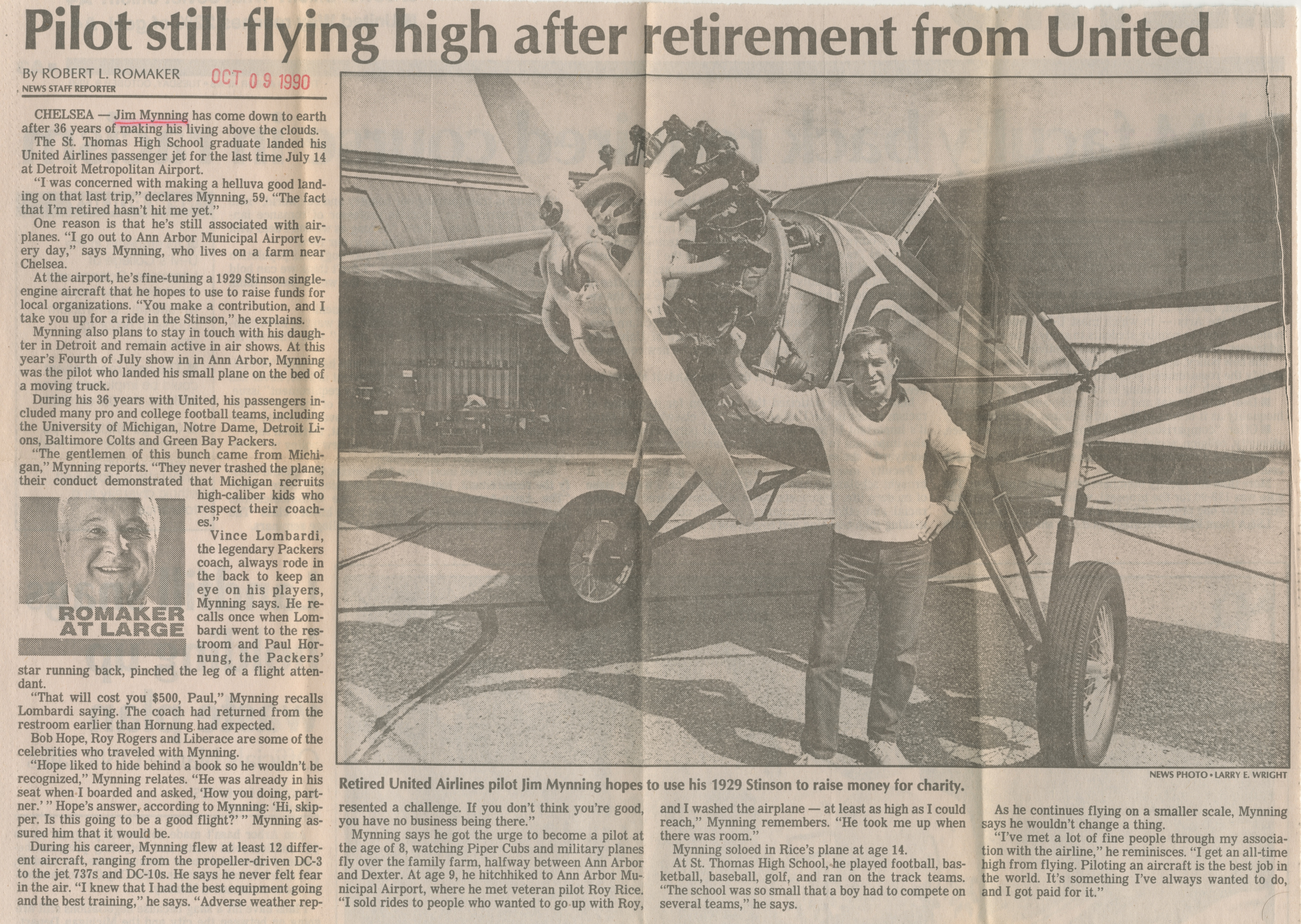 Pilot still flying high after retirement from United image