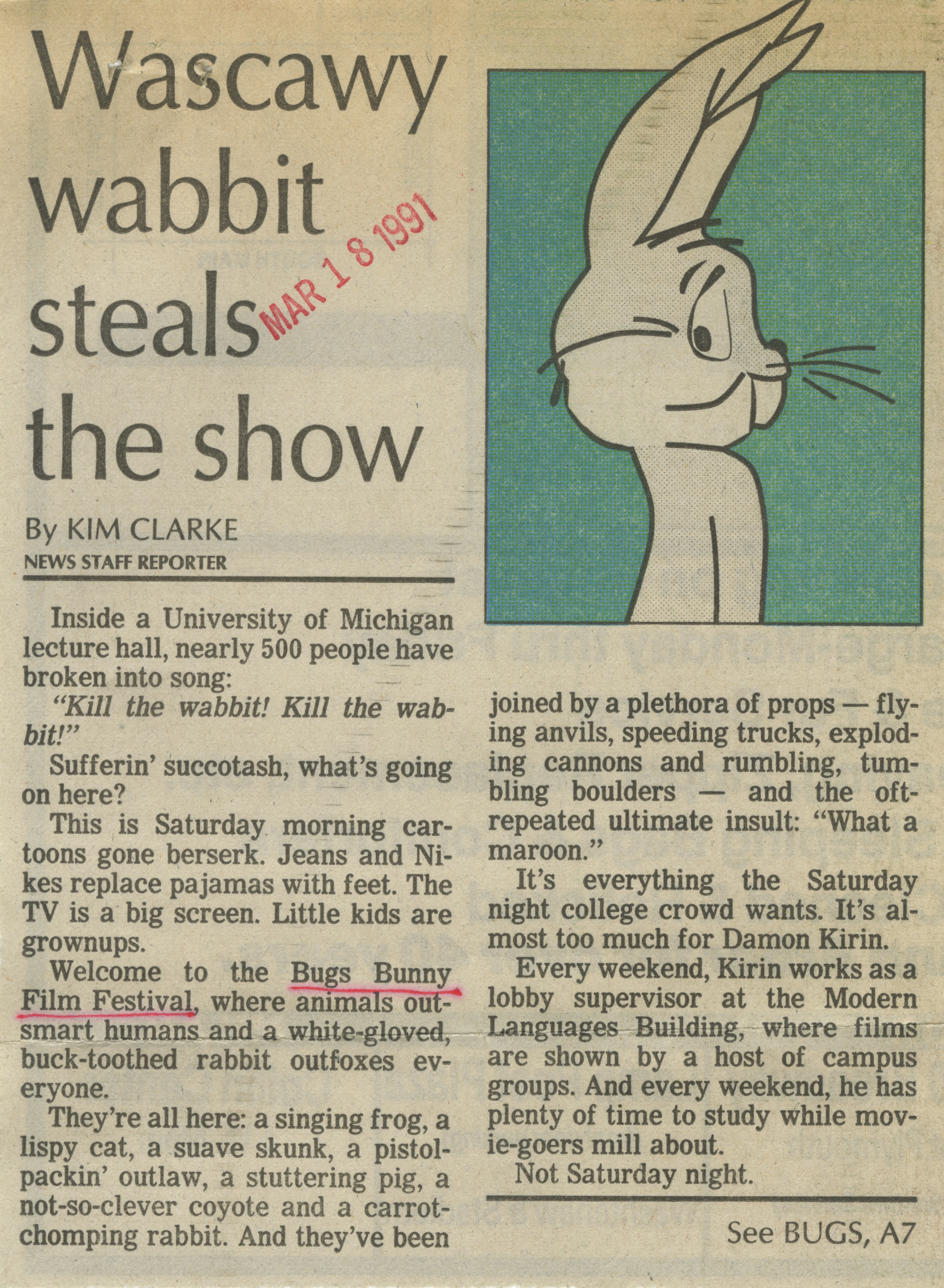 Wascawy Wabbit Steals The Show image
