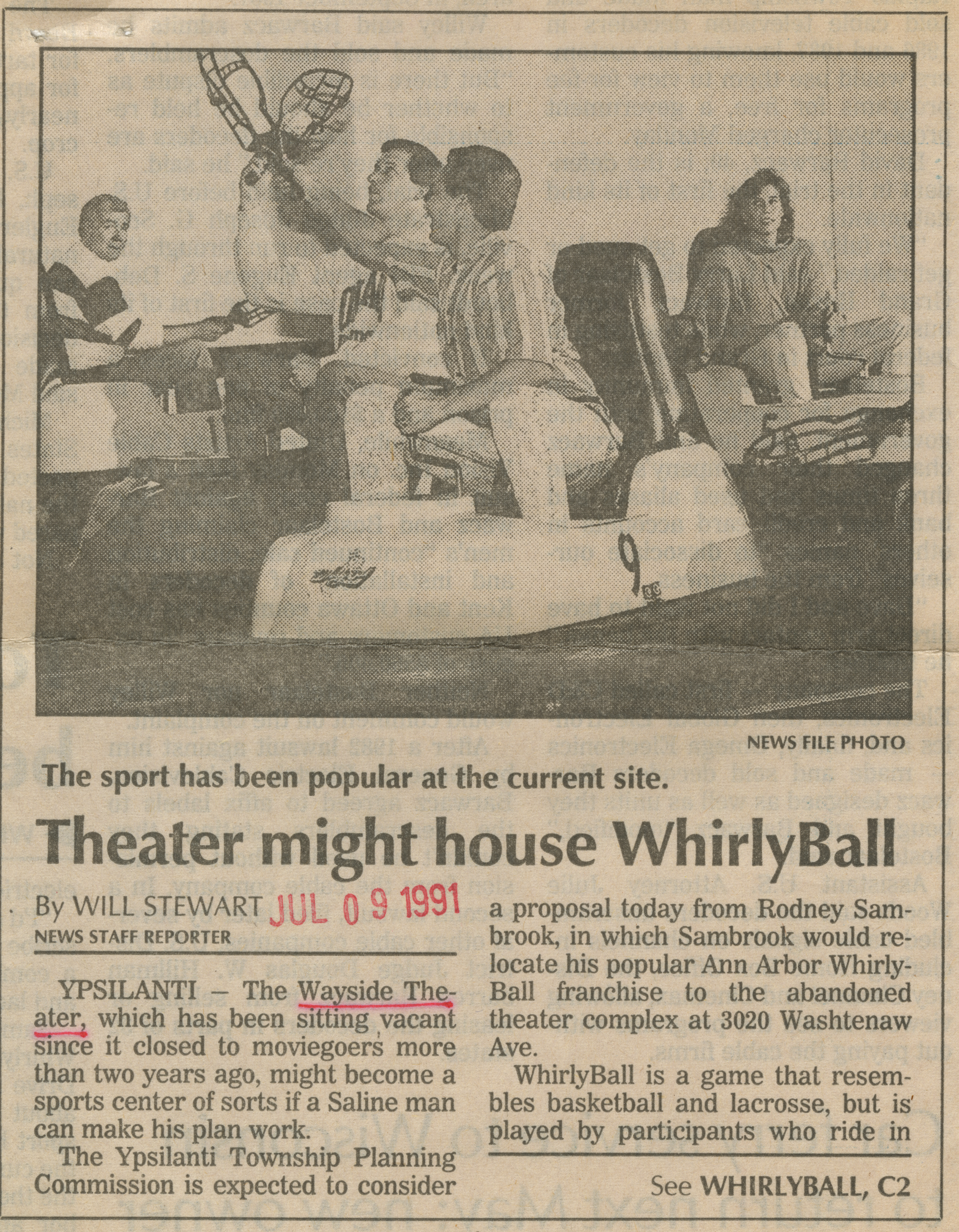 Theater might house WhirlyBall image
