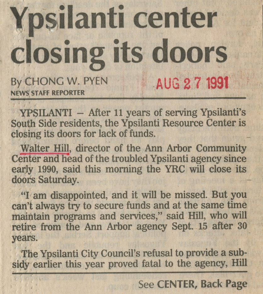 Ypsilanti center closing its doors image