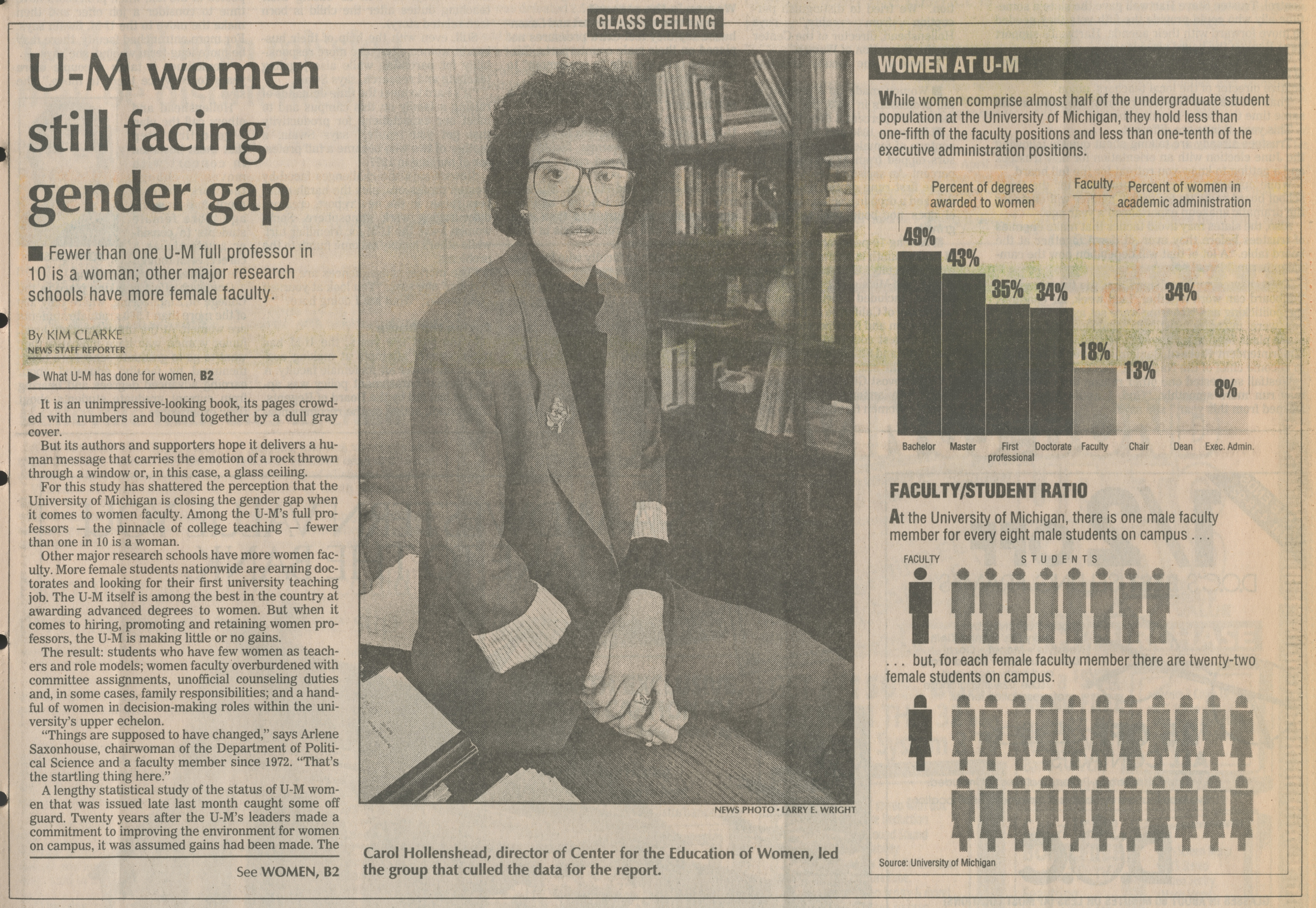 U-M women still facing gender gap image