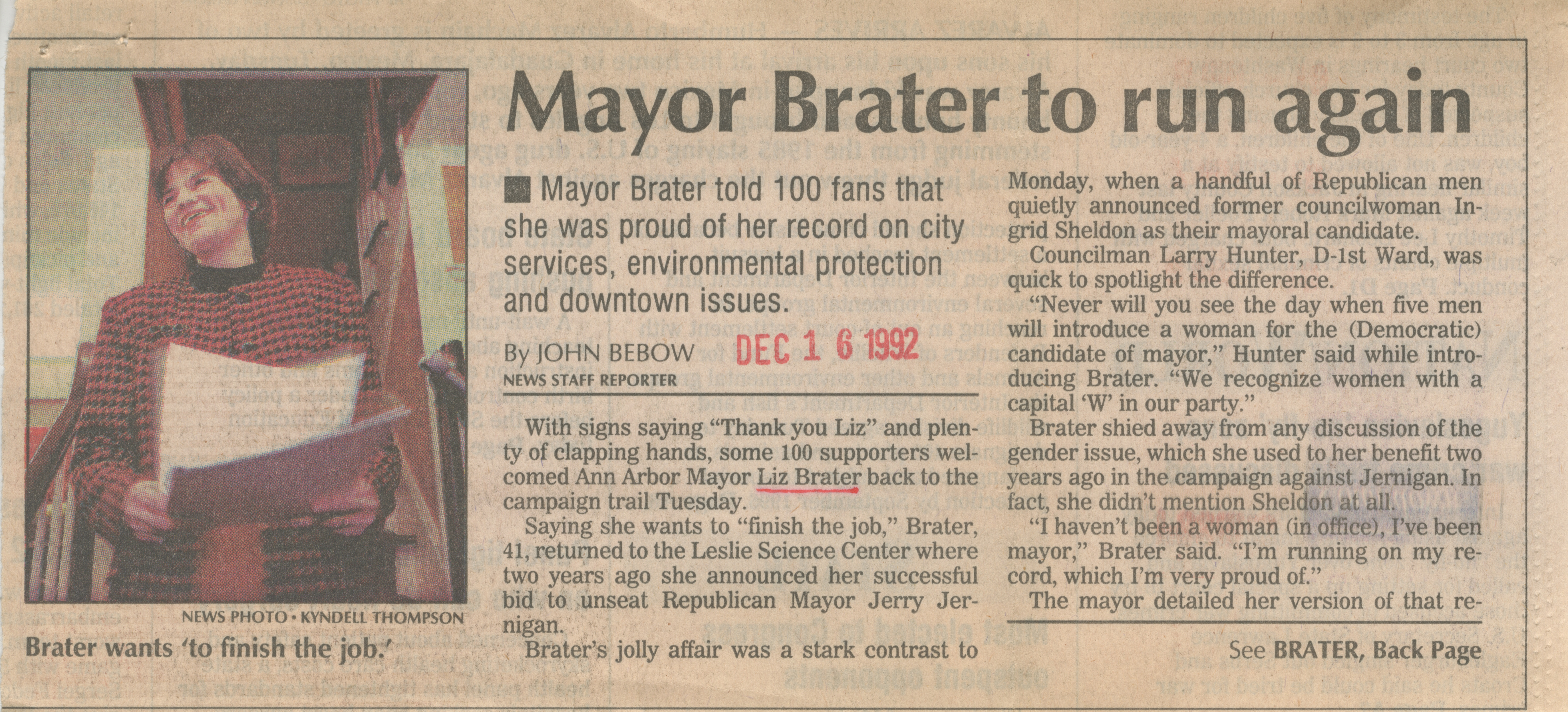 Mayor Brater to run again image
