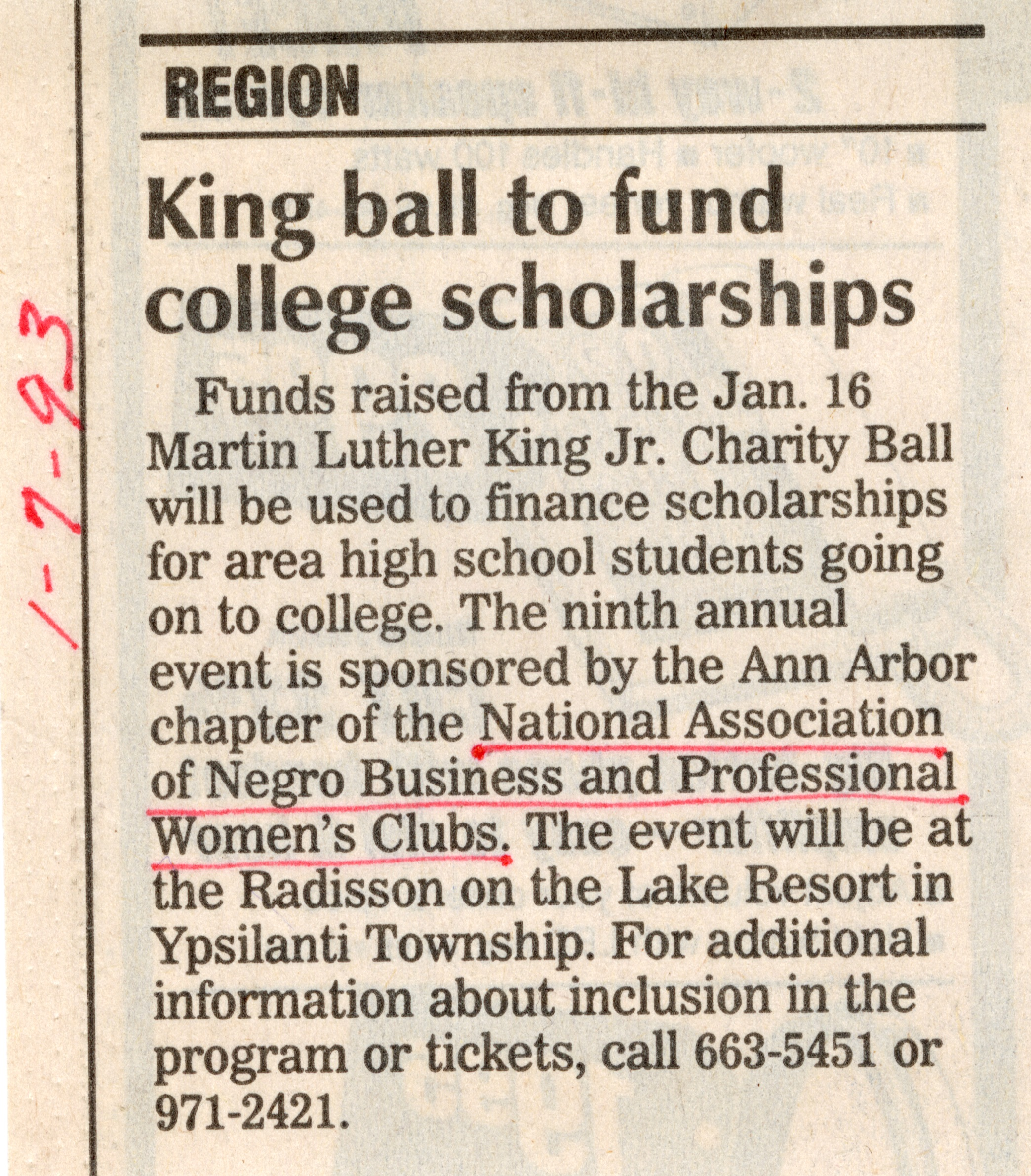 King ball to fund college scholarship image