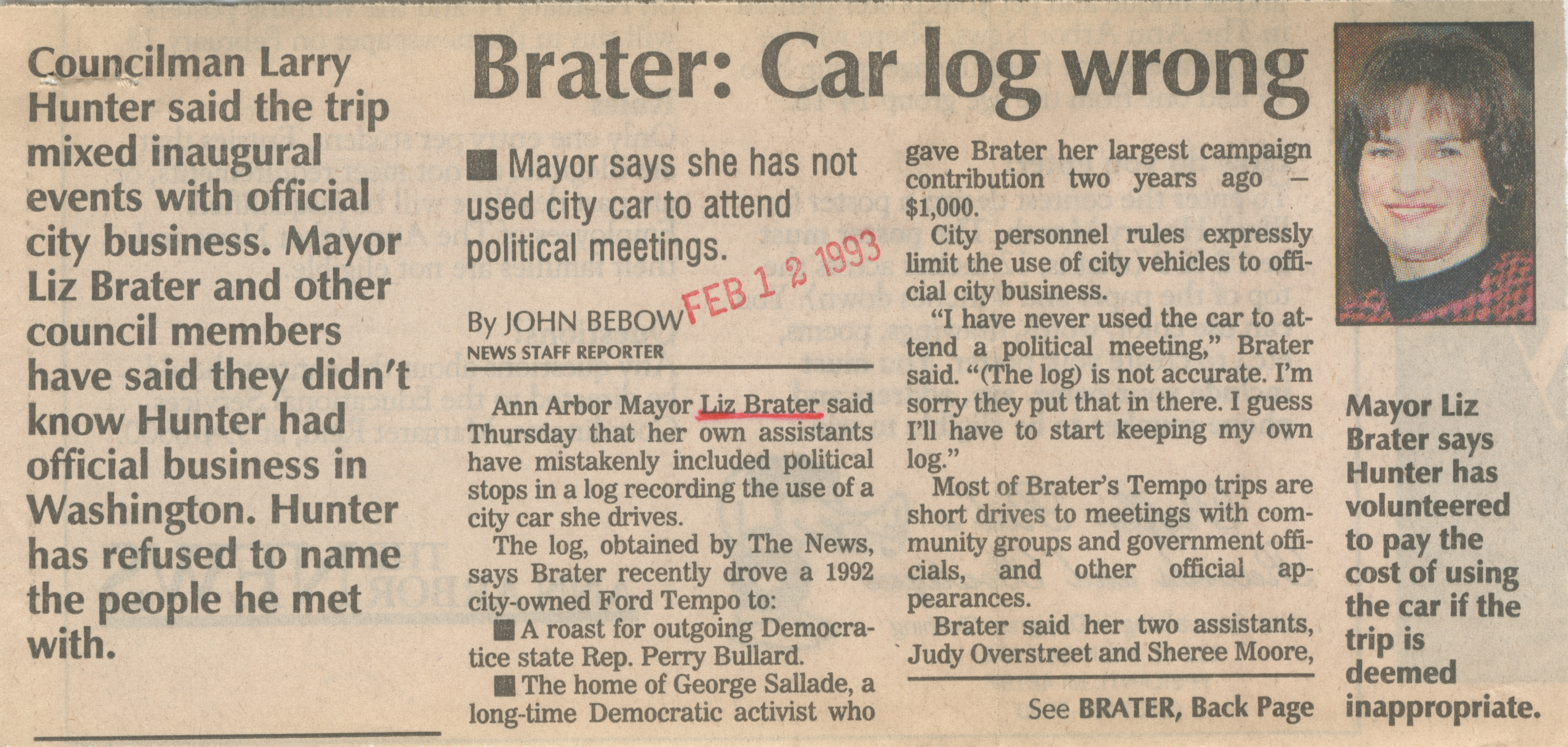 Brater: Car log wrong image