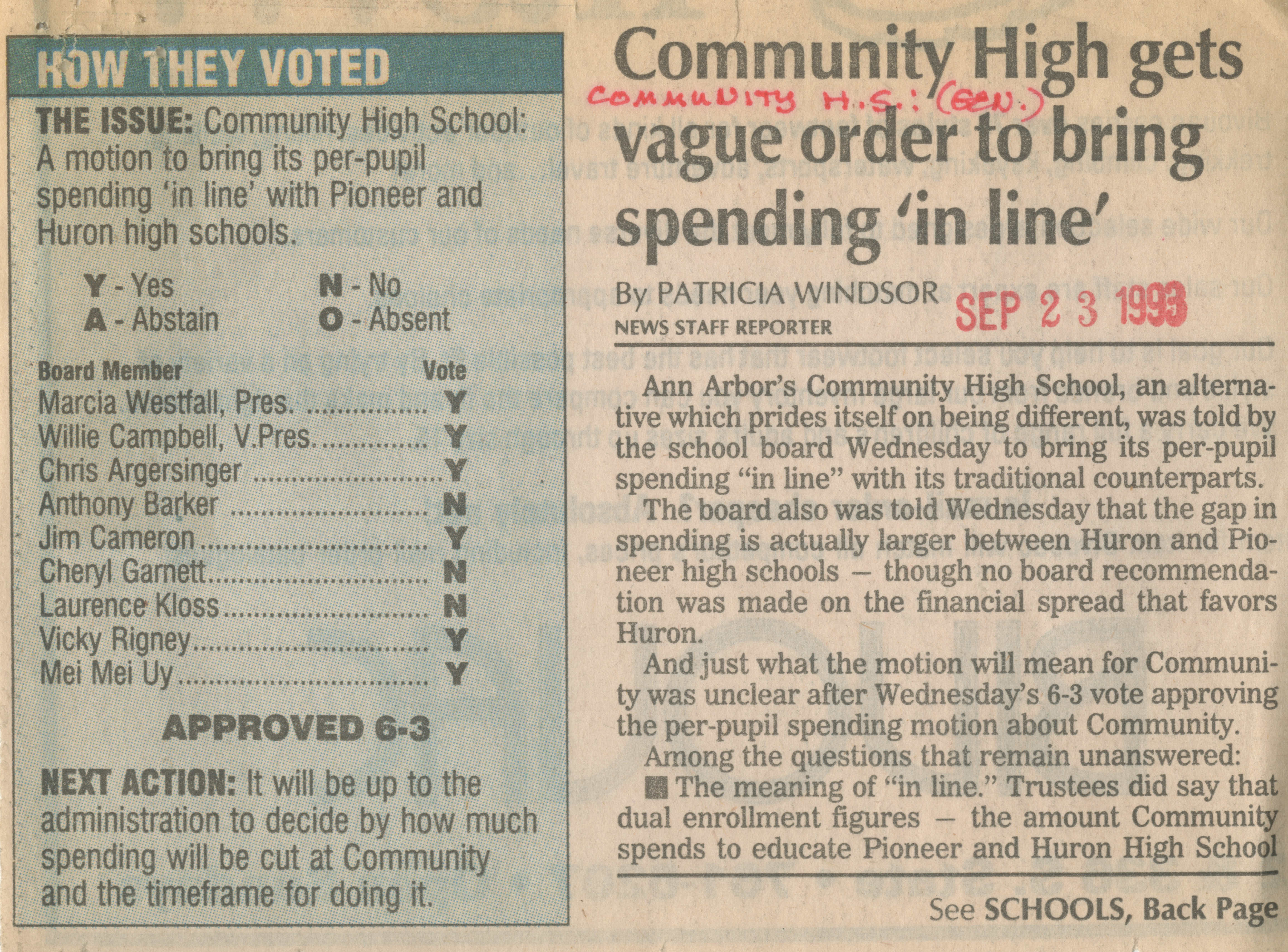 Community High gets vague order to bring spending 'in line' image
