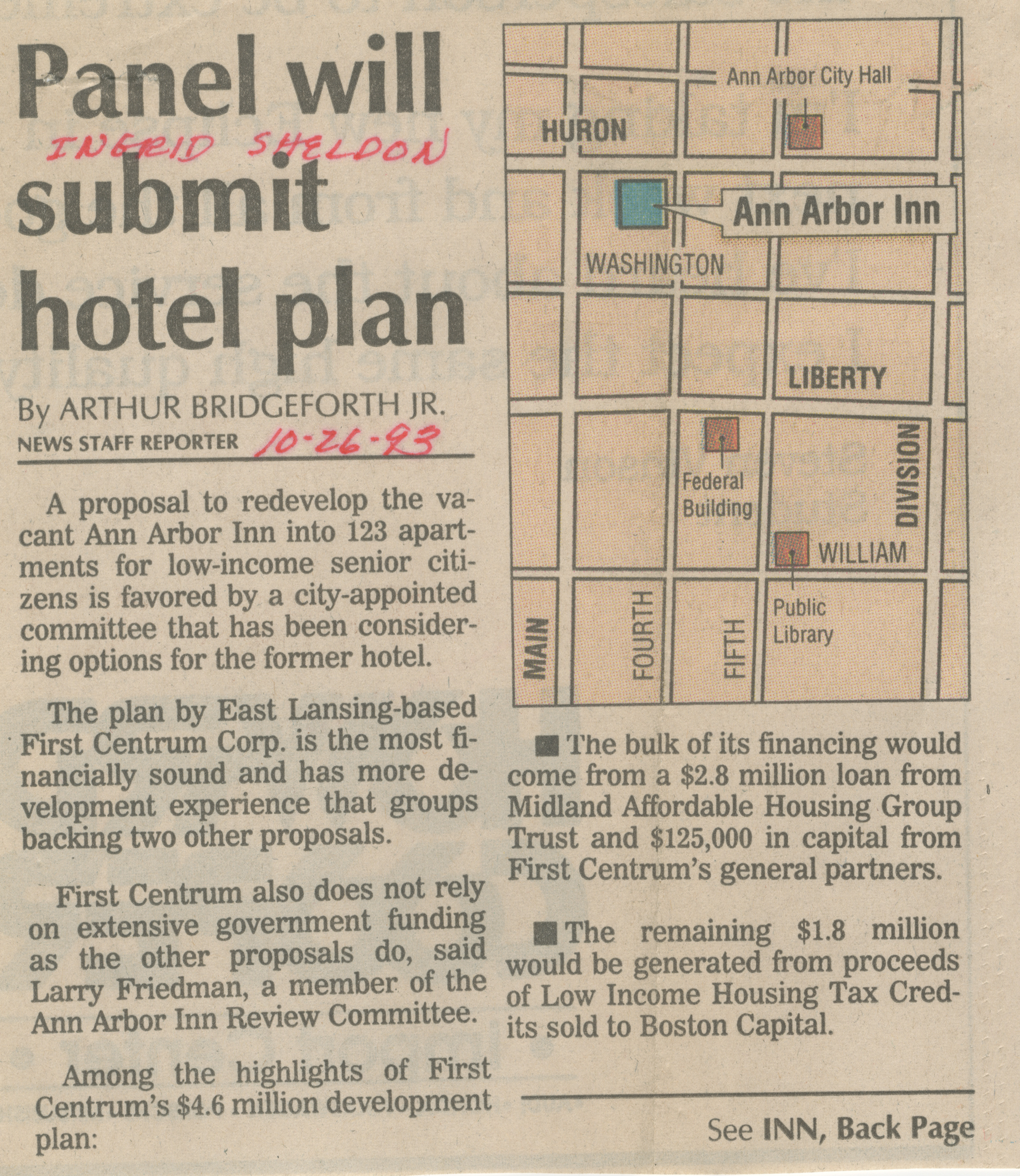 Panel will submit hotel plan image