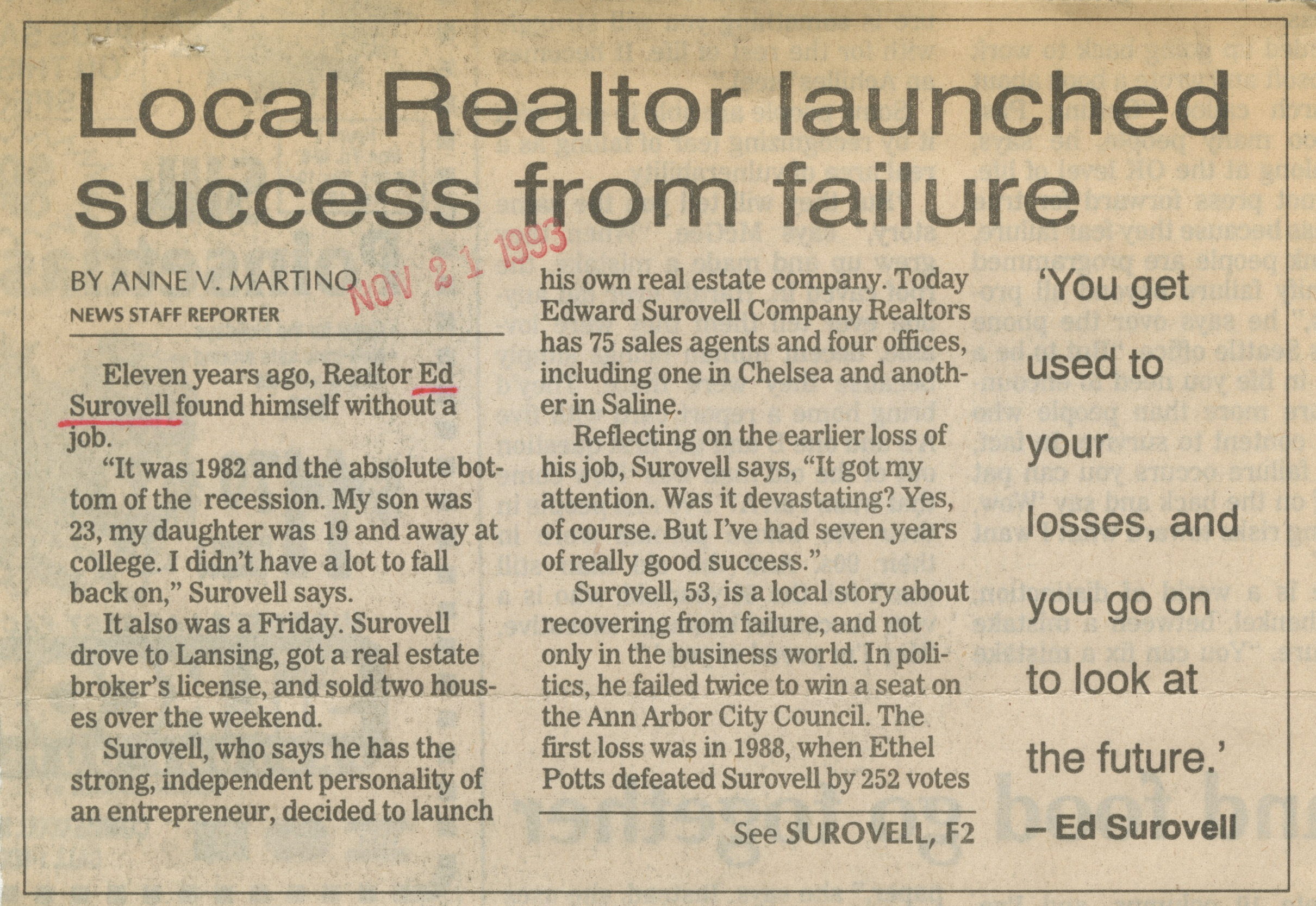 Local Realtor Launched Success From Failure image