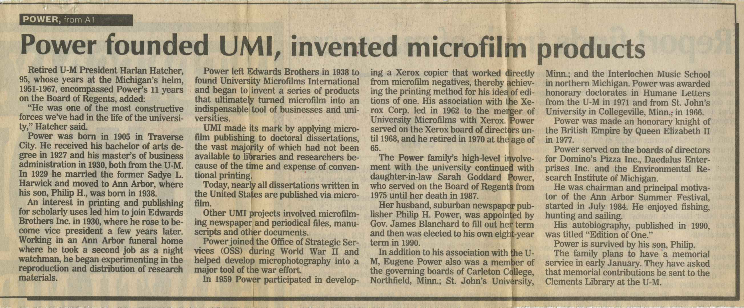 Microfilm founder dies at 88 image