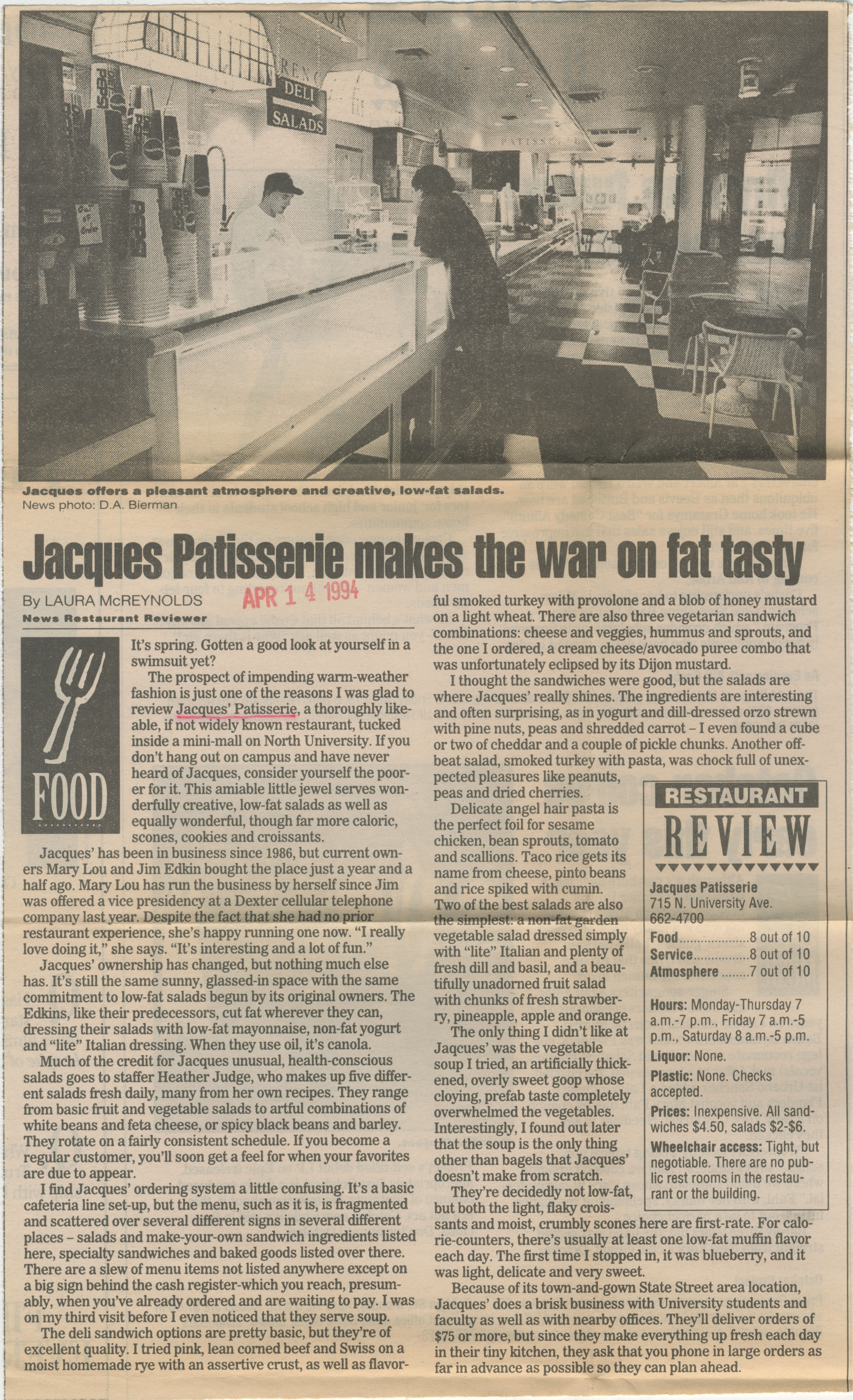 Jacques Patisserie Makes The War On Fat Tasty image
