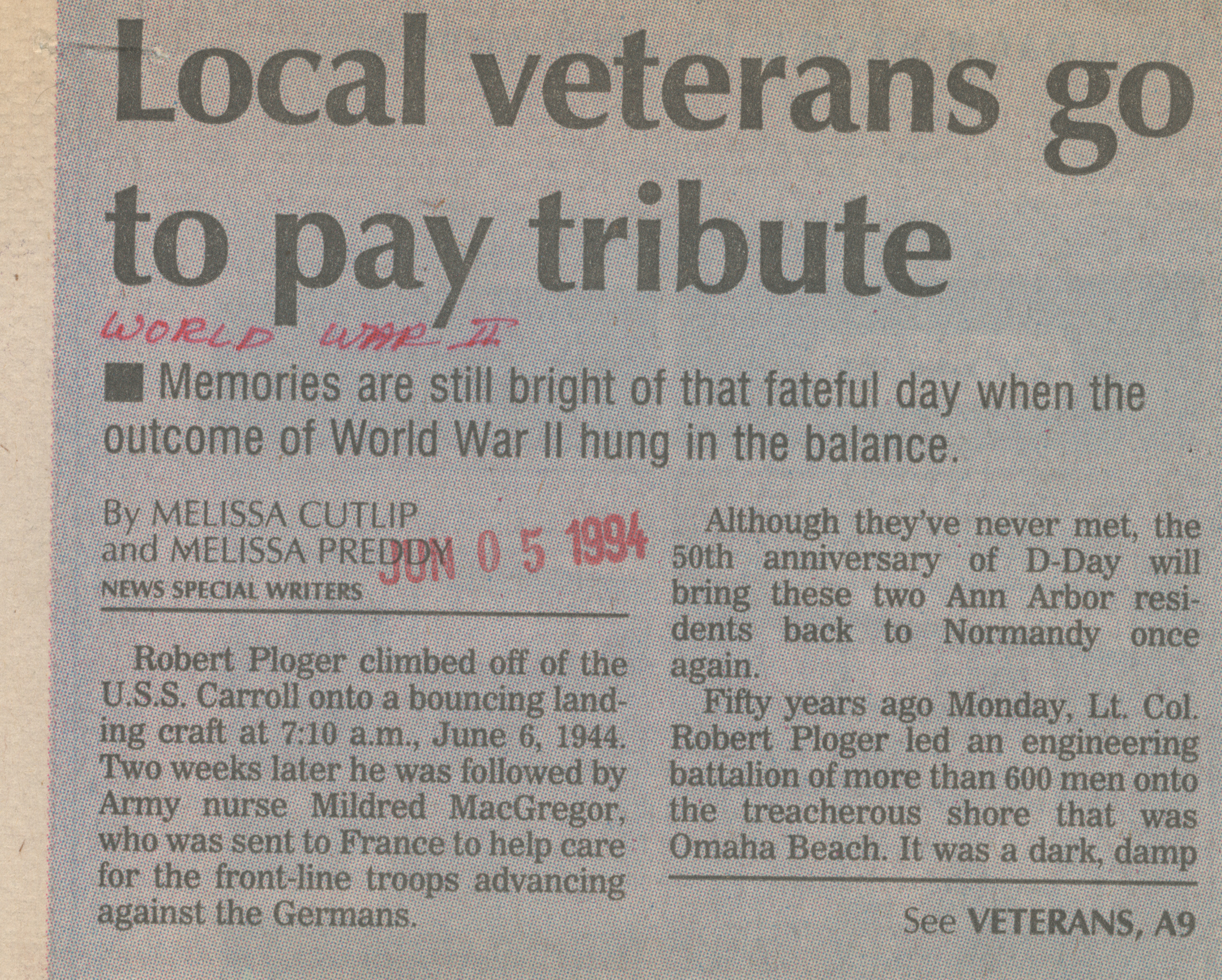 Local veterans go to pay tribute image