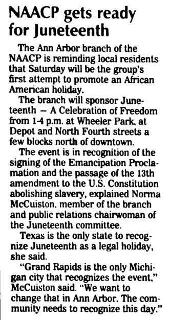 NAACP Gets Ready For Juneteenth image