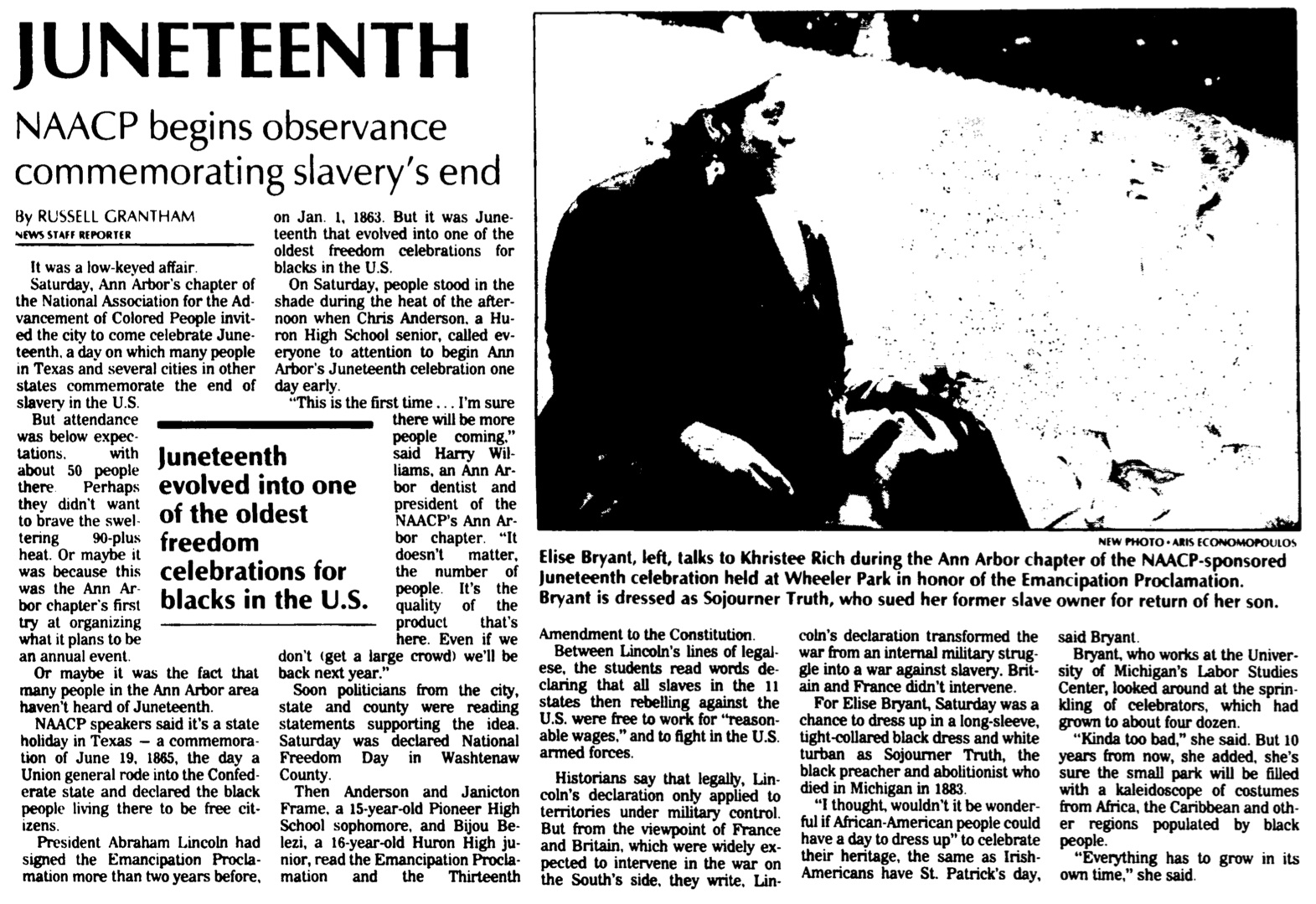 Juneteenth: NAACP Begins Observance Celebrating Slavery's End image